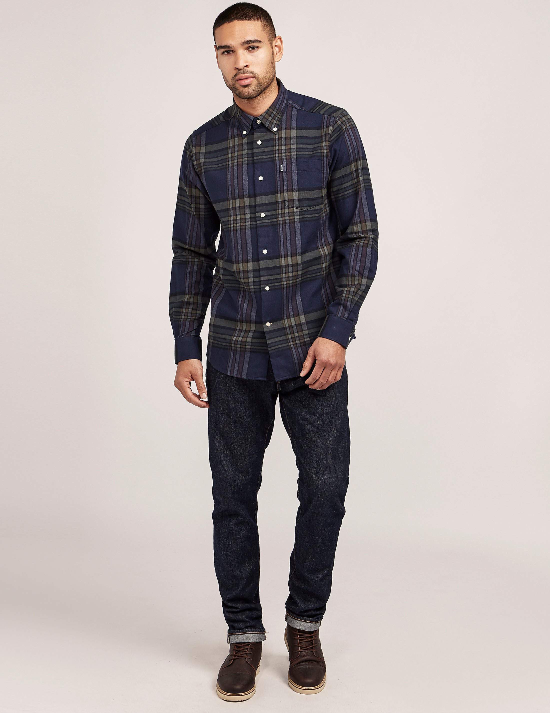 Barbour Blane Checked Long Sleeve Shirt