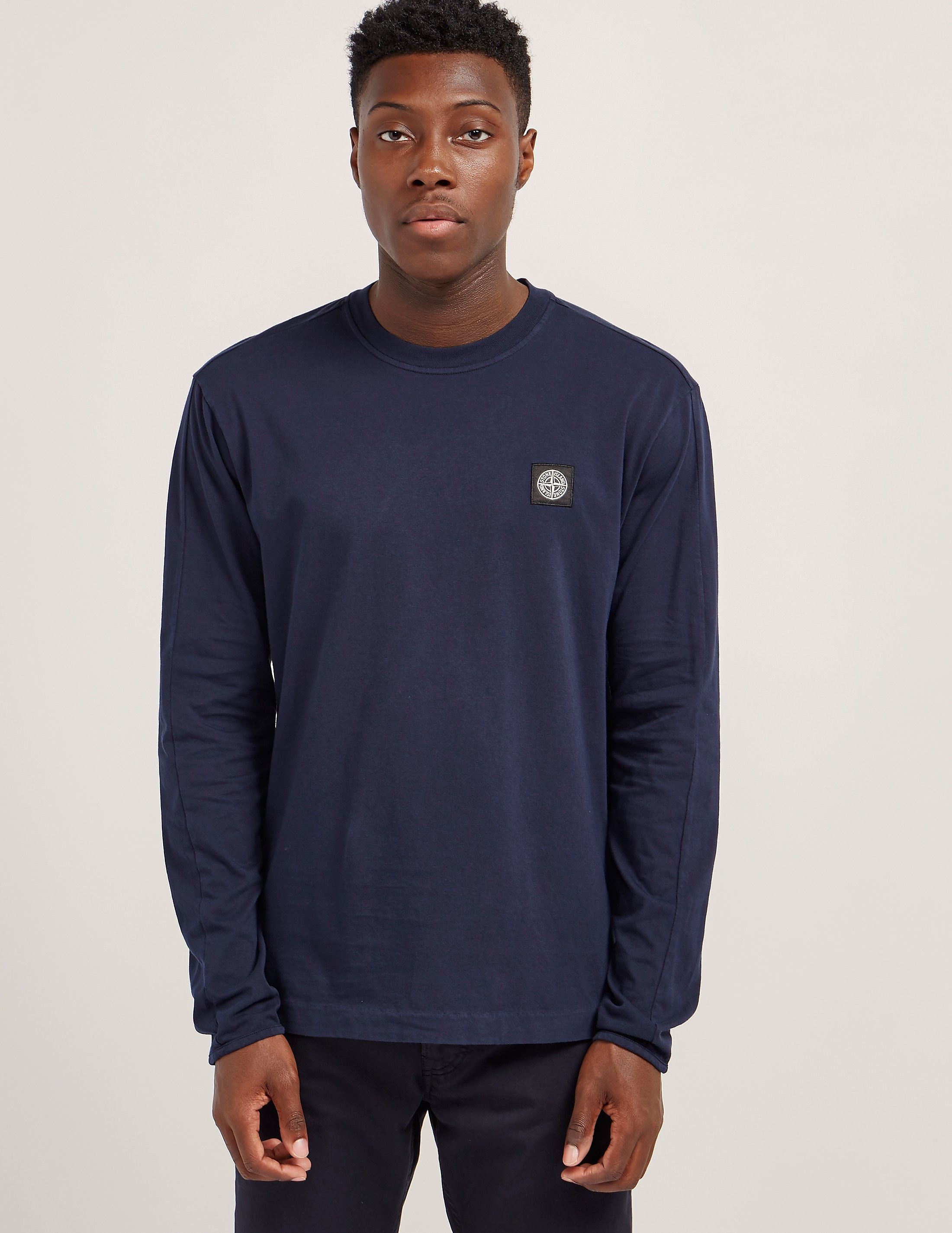 Stone Island Patch Long Sleeve T-Shirt
