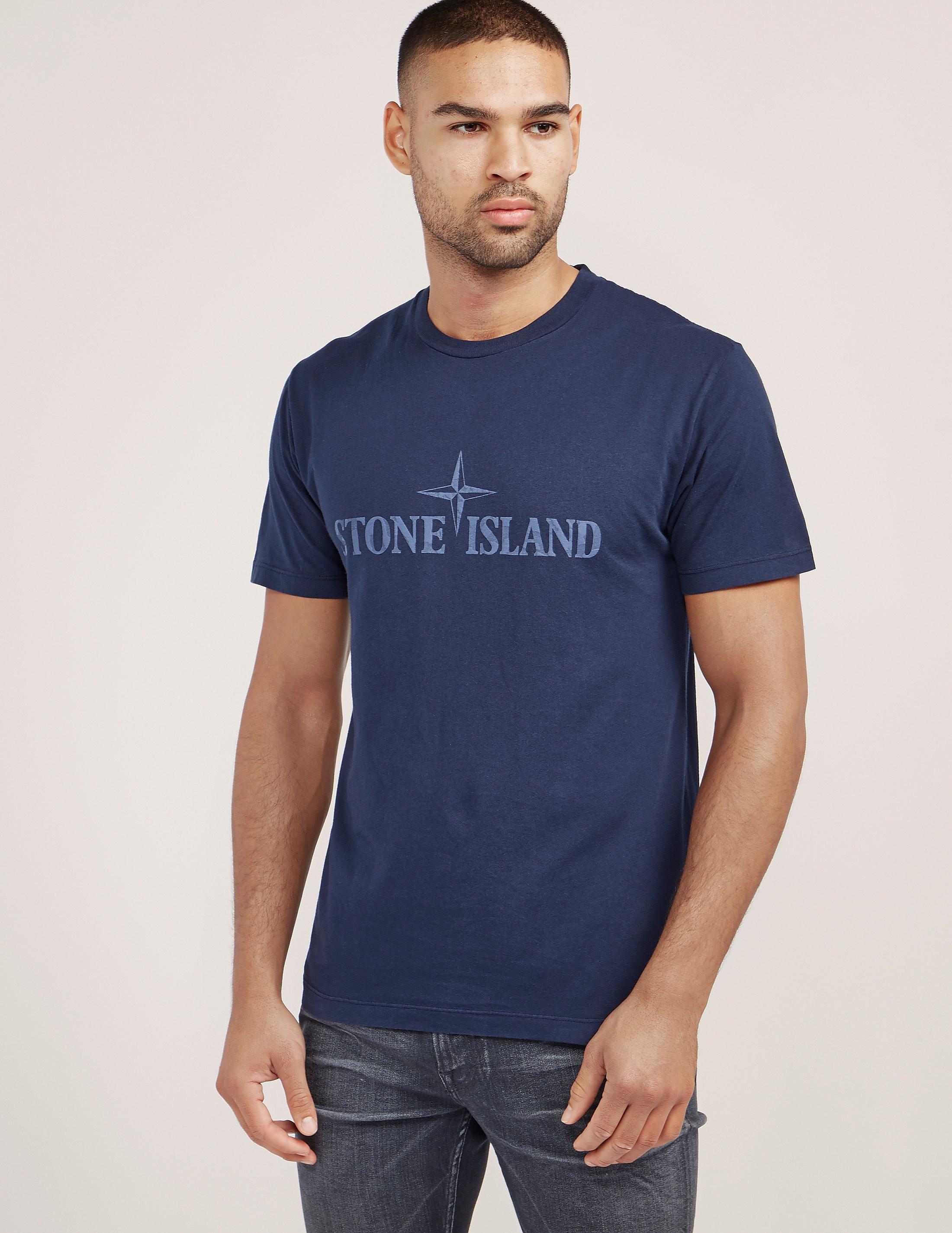 Stone Island Logo Short Sleeve T-Shirt