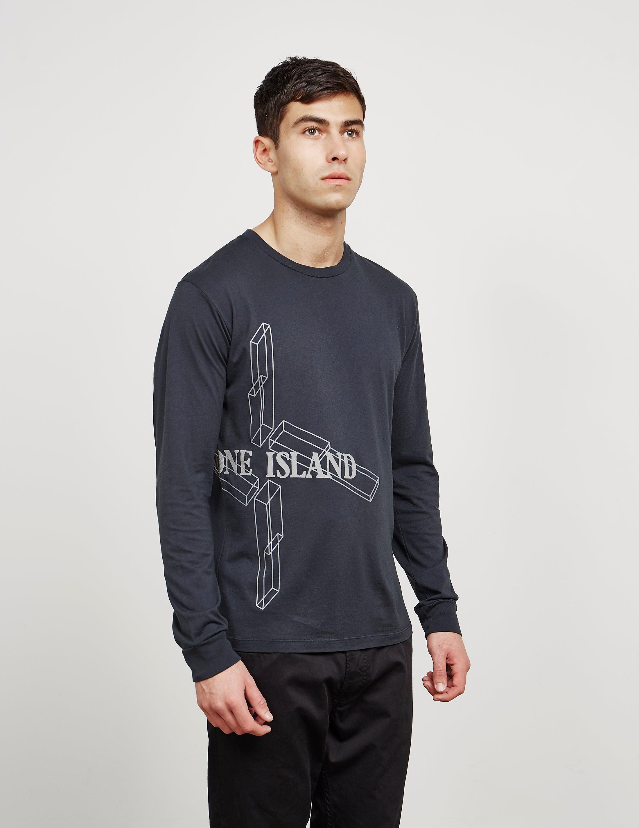 Stone Island Graphic Long Sleeve T-Shirt