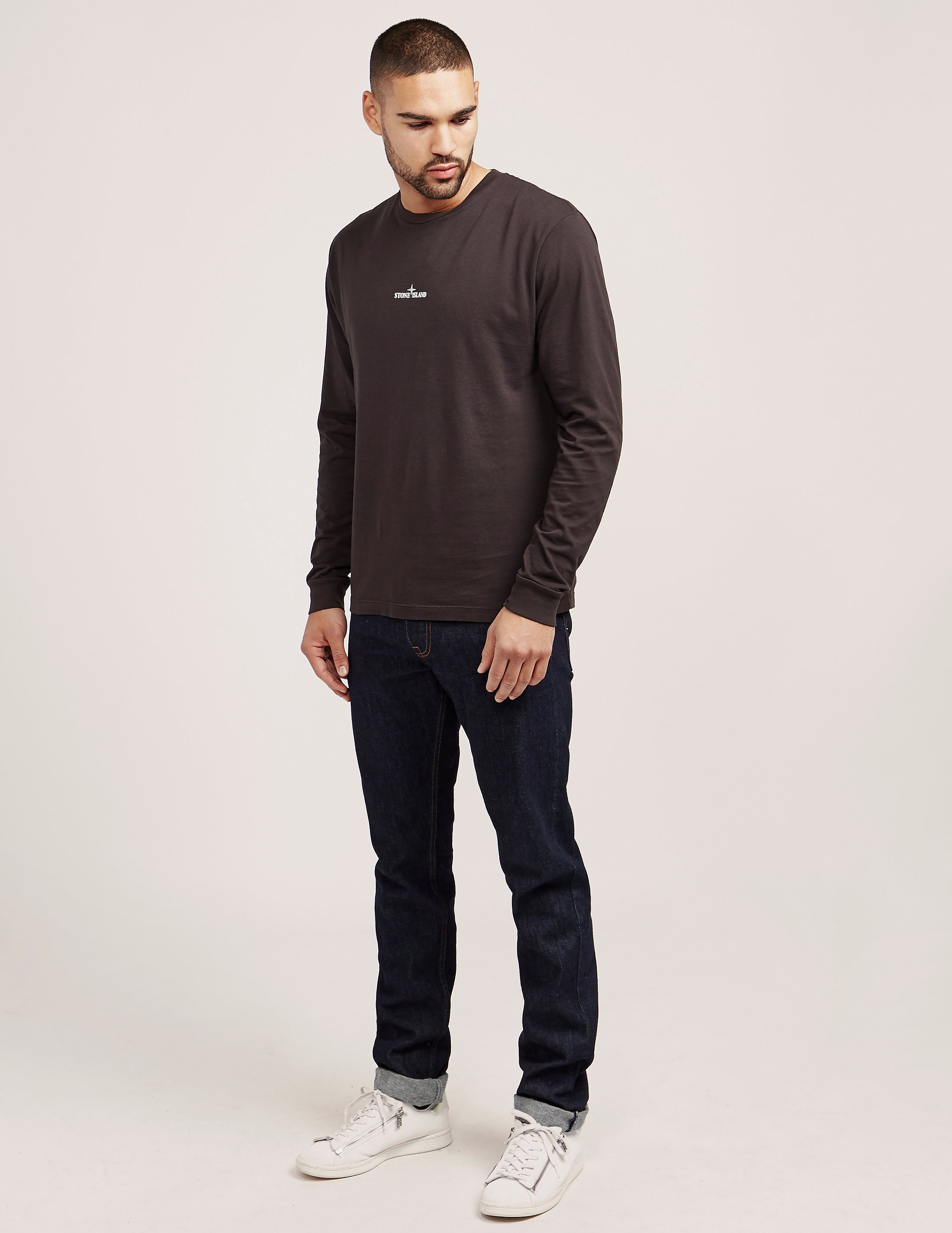 Stone Island Back Pin Long Sleeve T-Shirt
