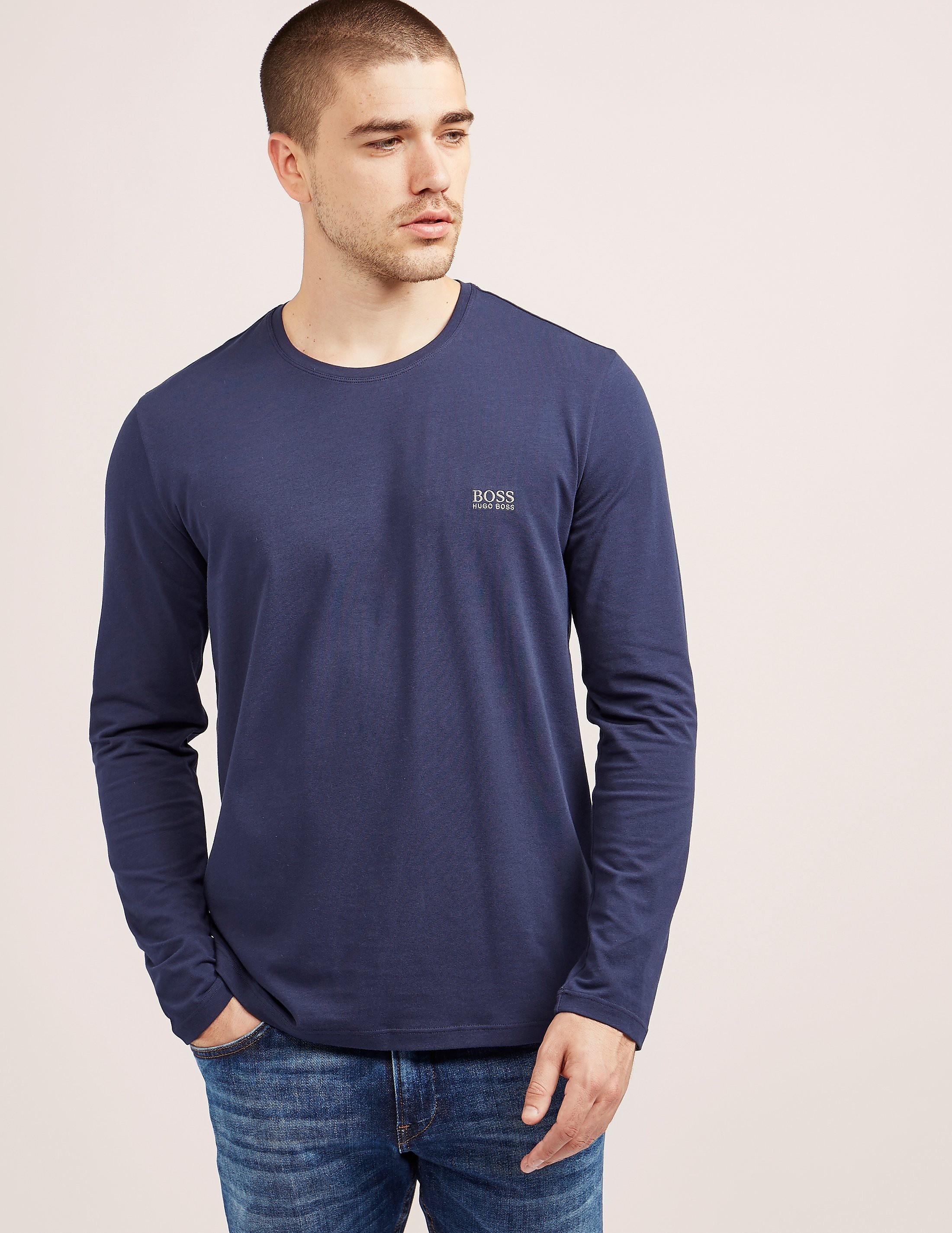 BOSS Embossed Logo Long Sleeve T-Shirt