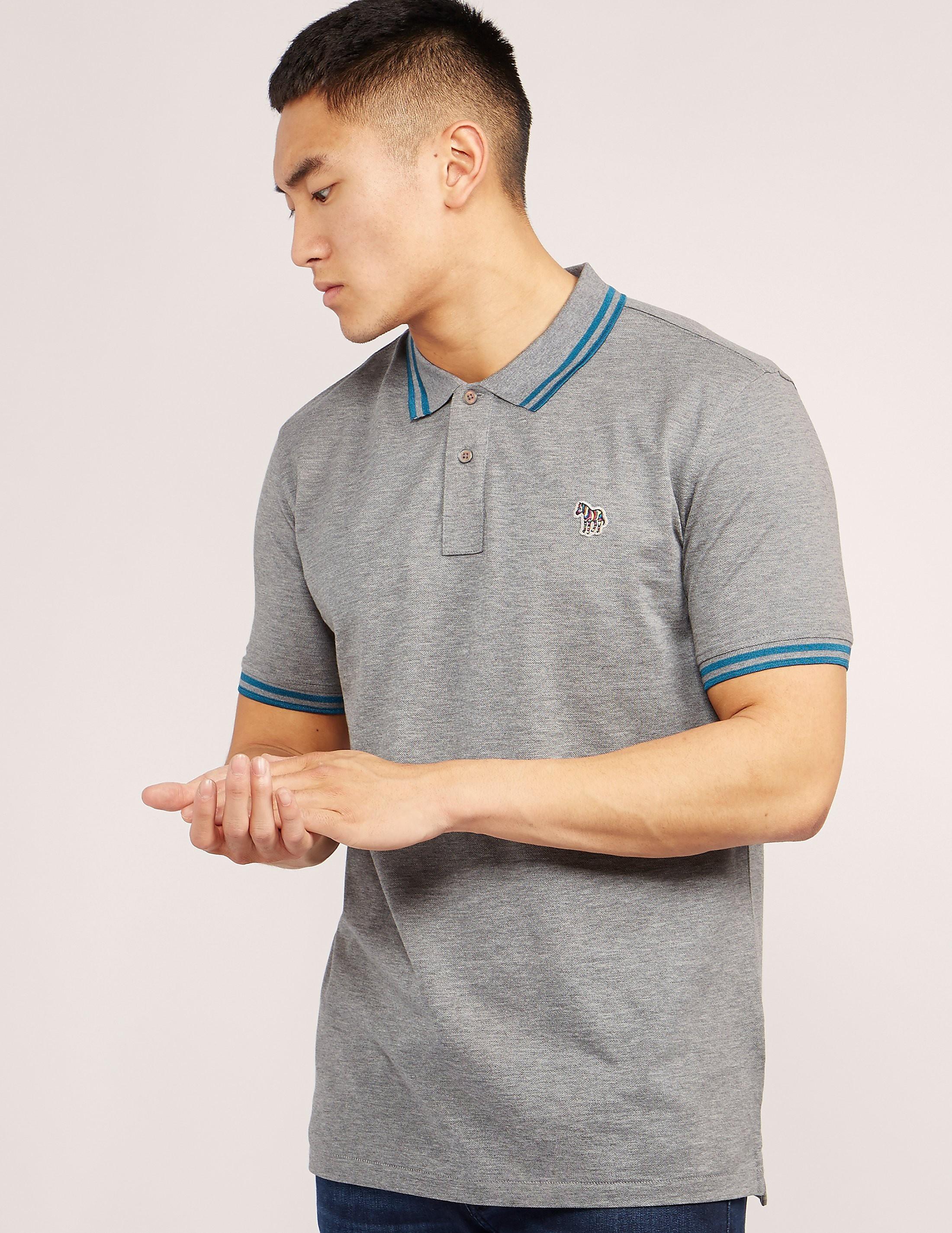 Paul Smith Tipped Short Sleeve Polo Shirt