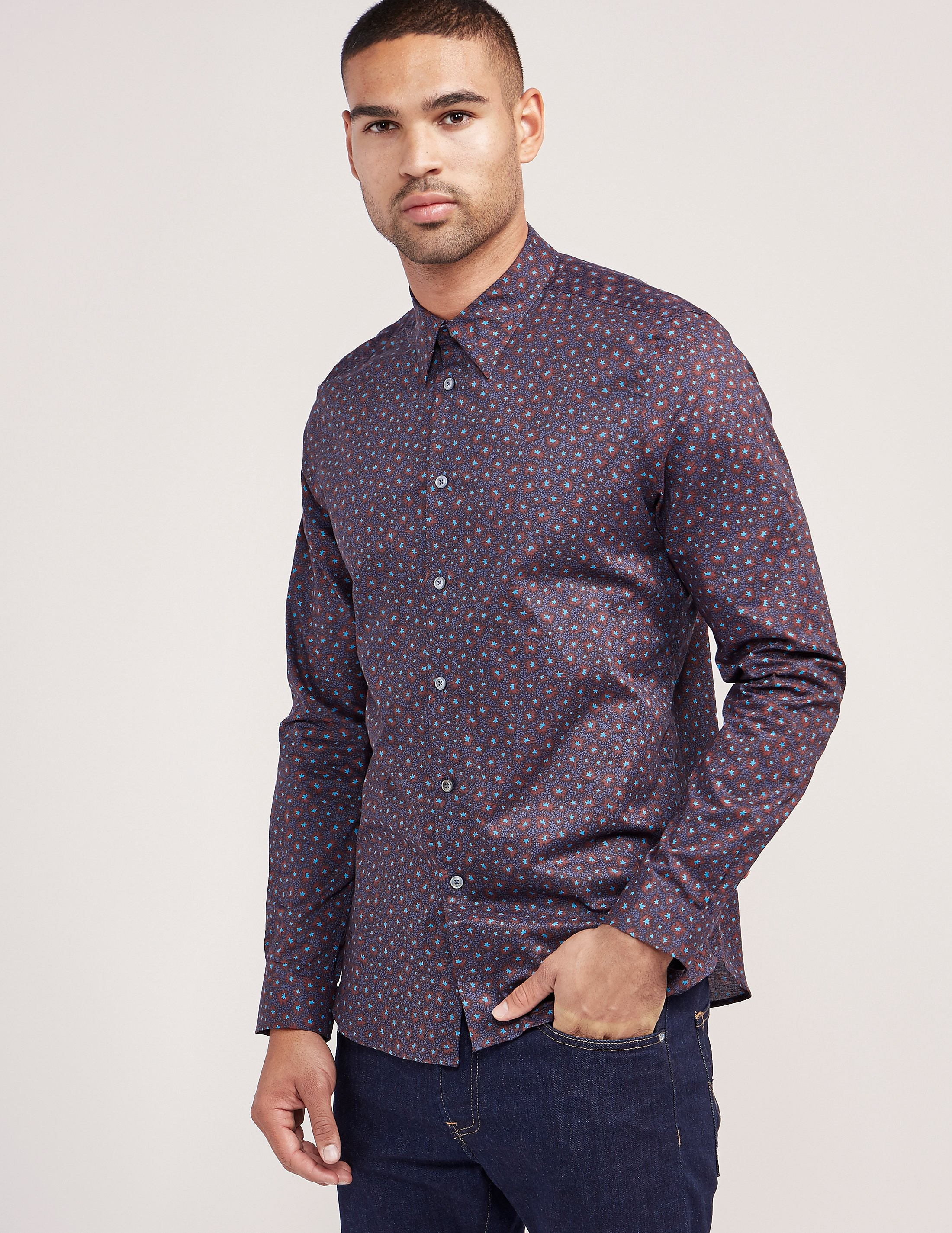 Paul Smith Starburst Print Long Sleeve Shirt