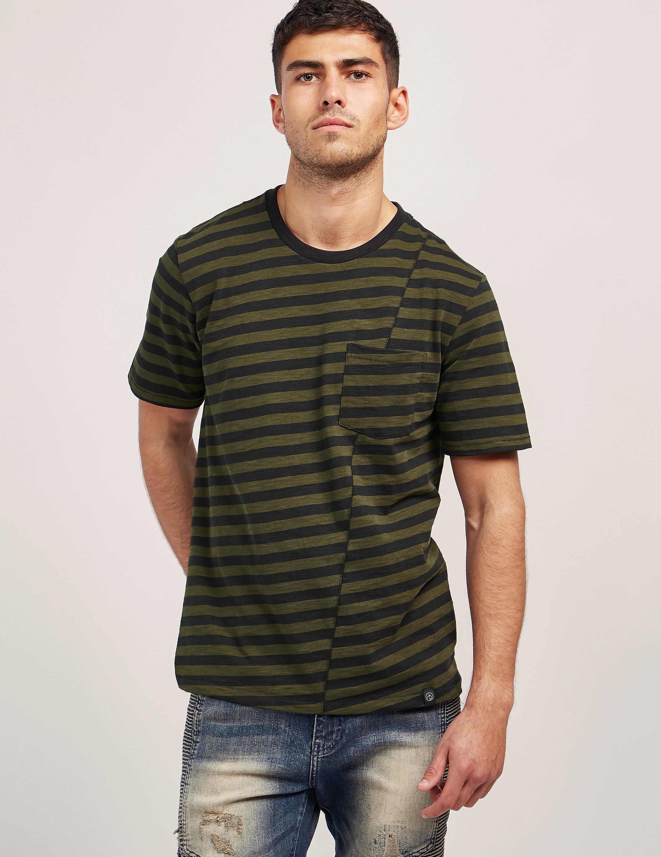Rag & Bone Stripe Pocket Short Sleeve T-Shirt