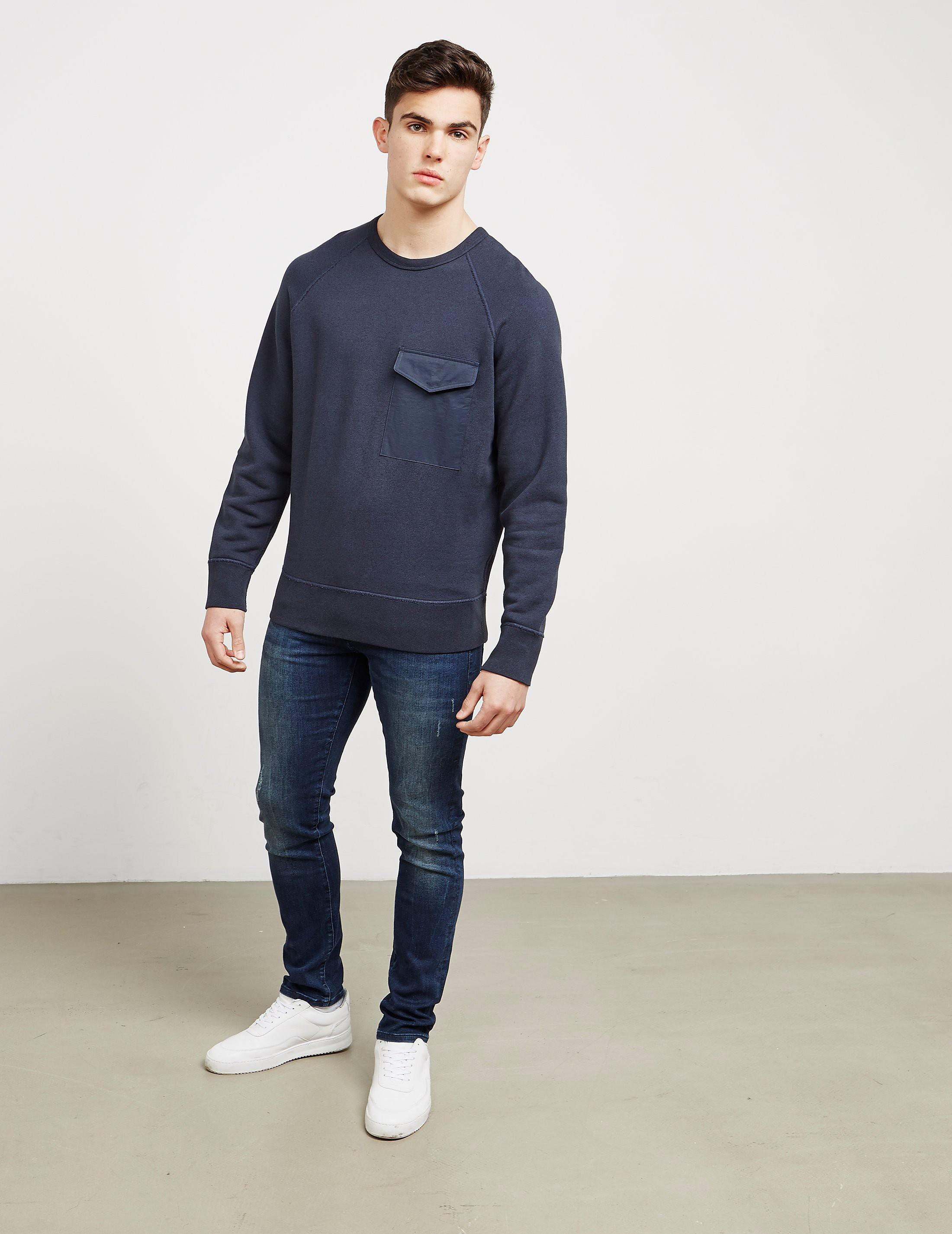 Rag & Bone Pocket Crew Neck Sweatshirt