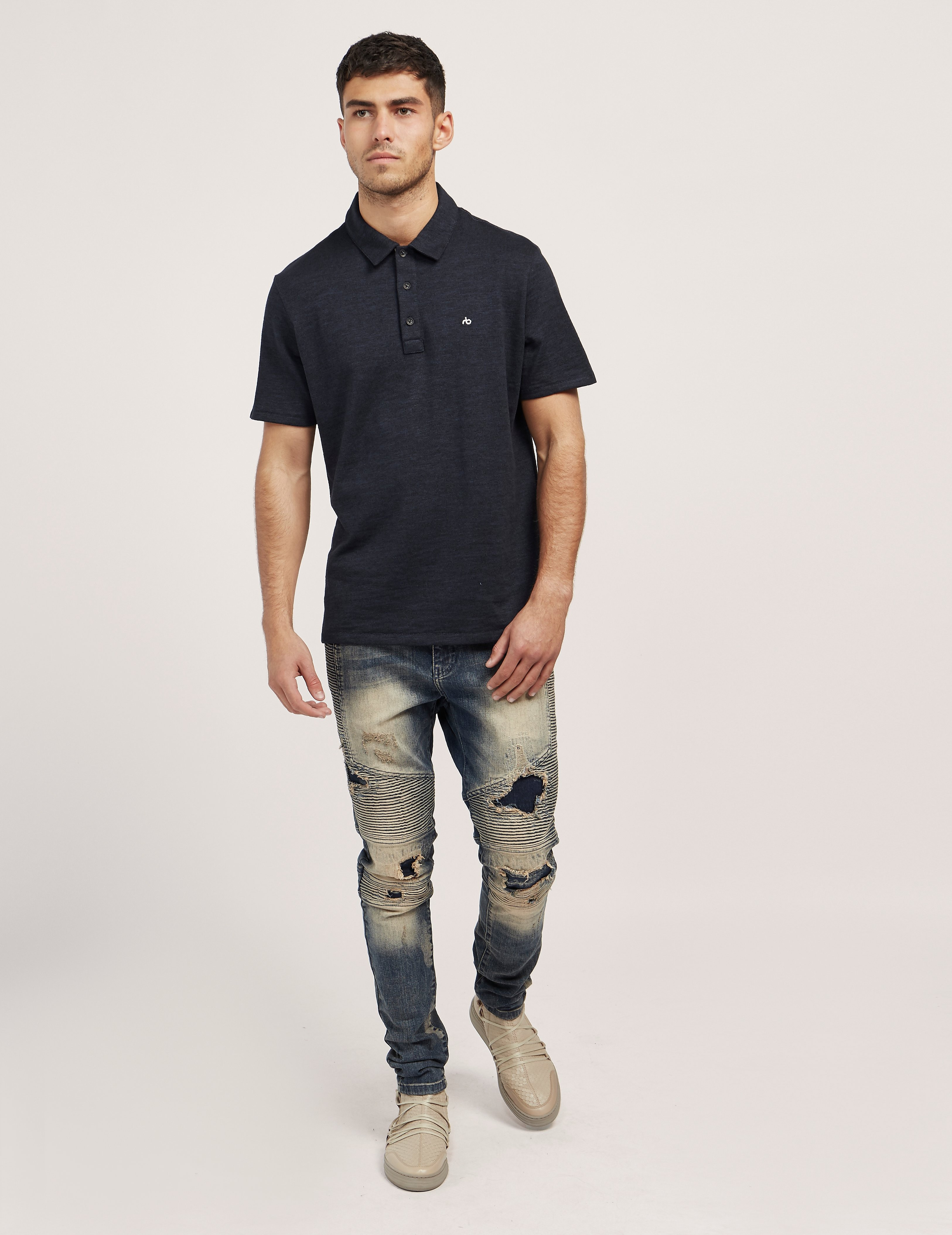 Rag & Bone Short Sleeve Polo Shirt