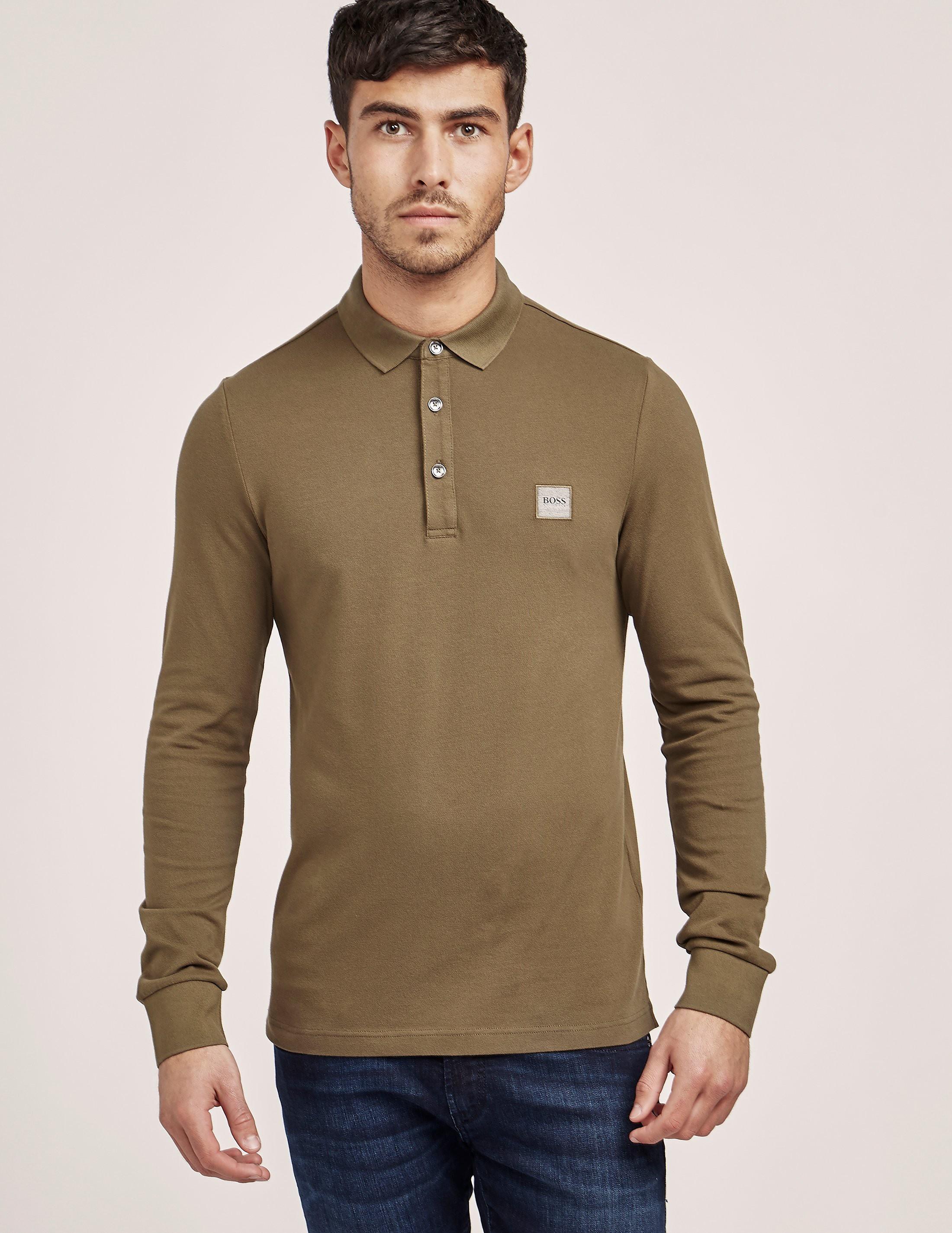 BOSS Orange Paulin Long Sleeve Polo Shirt