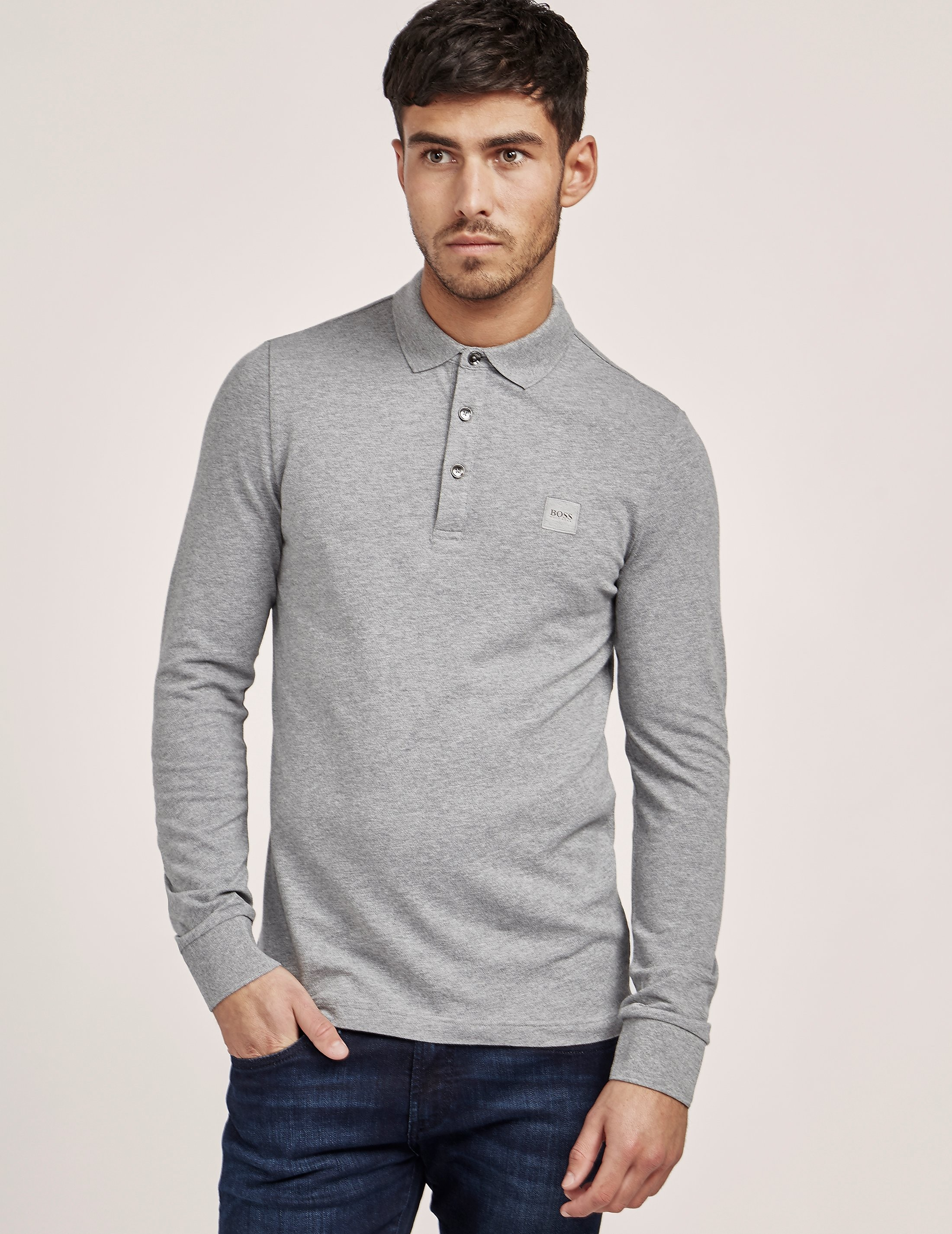 BOSS Orange Paulin Long Sleeve Polo Shirt