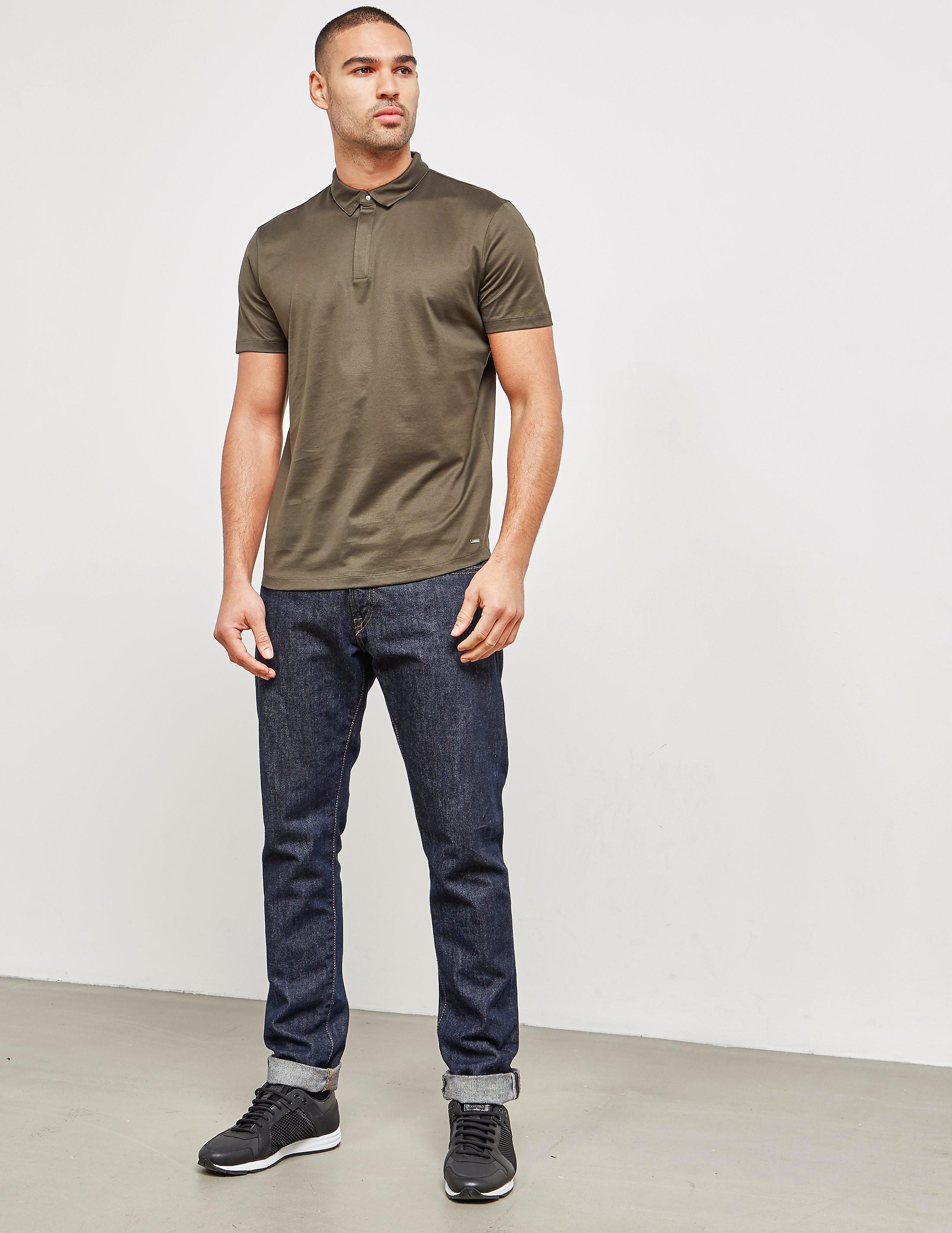 HUGO Mercerised Short Sleeve Polo Shirt