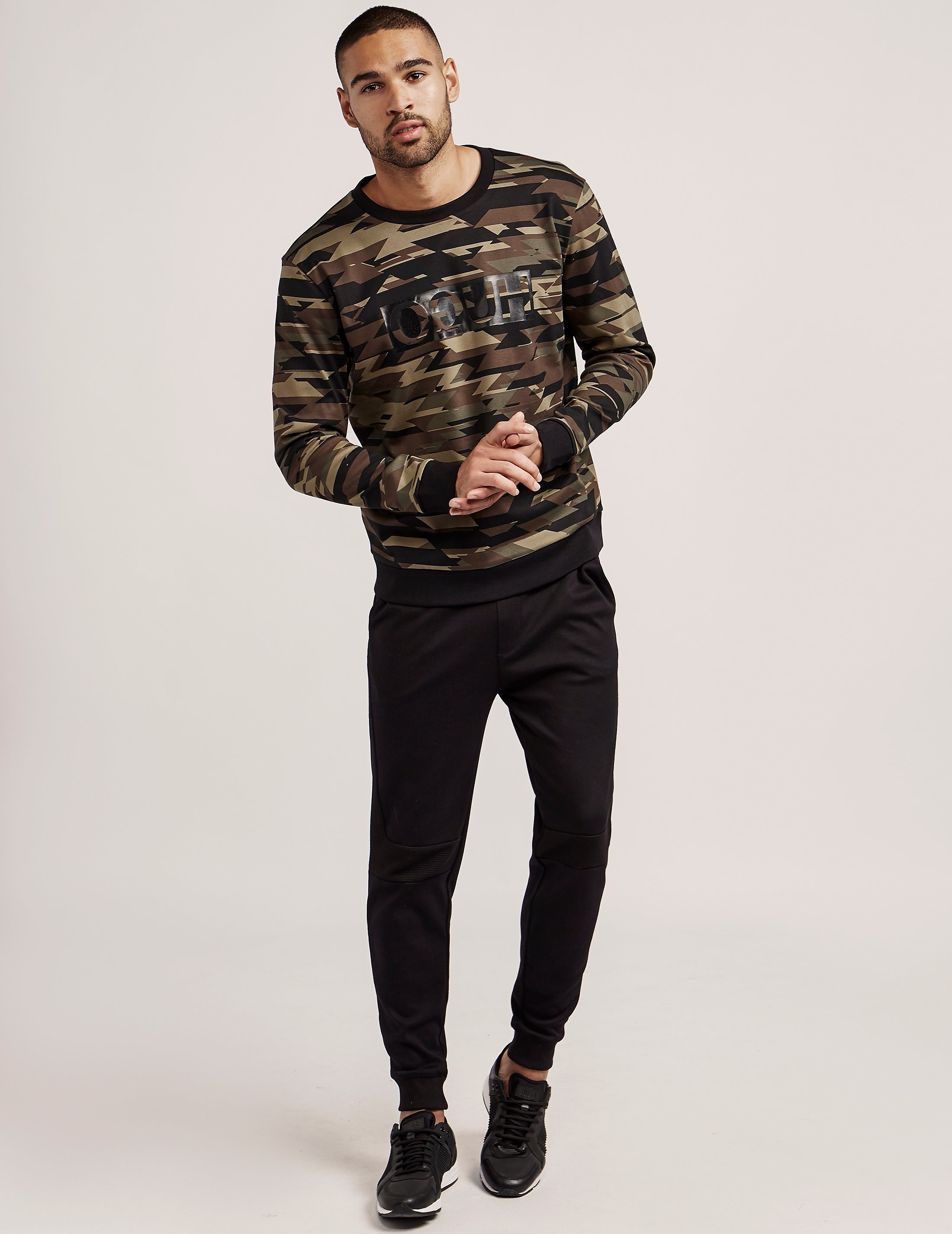 HUGO Camo Crew Neck Sweatshirt