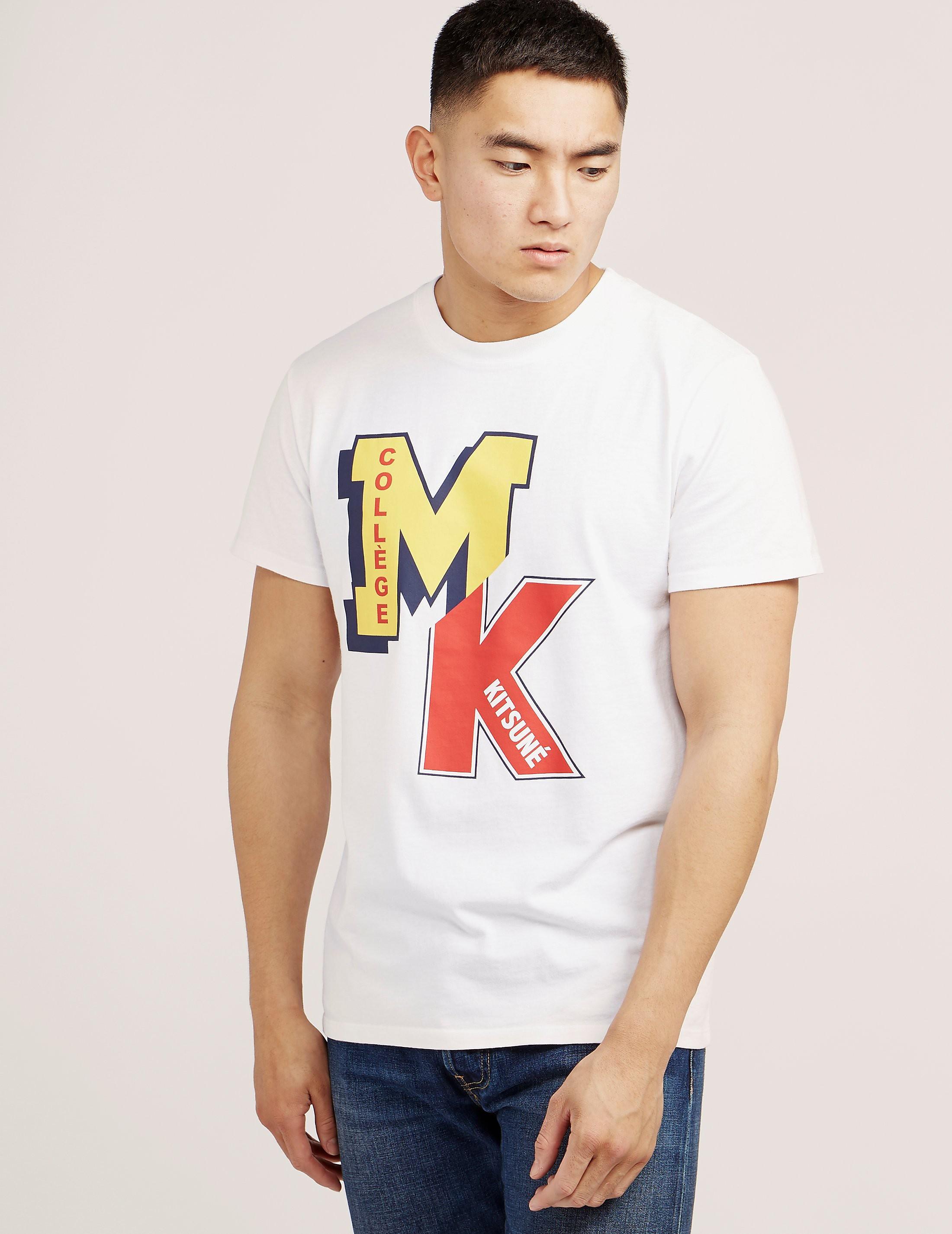Maison Kitsune College Logo Short Sleeve T-Shirt