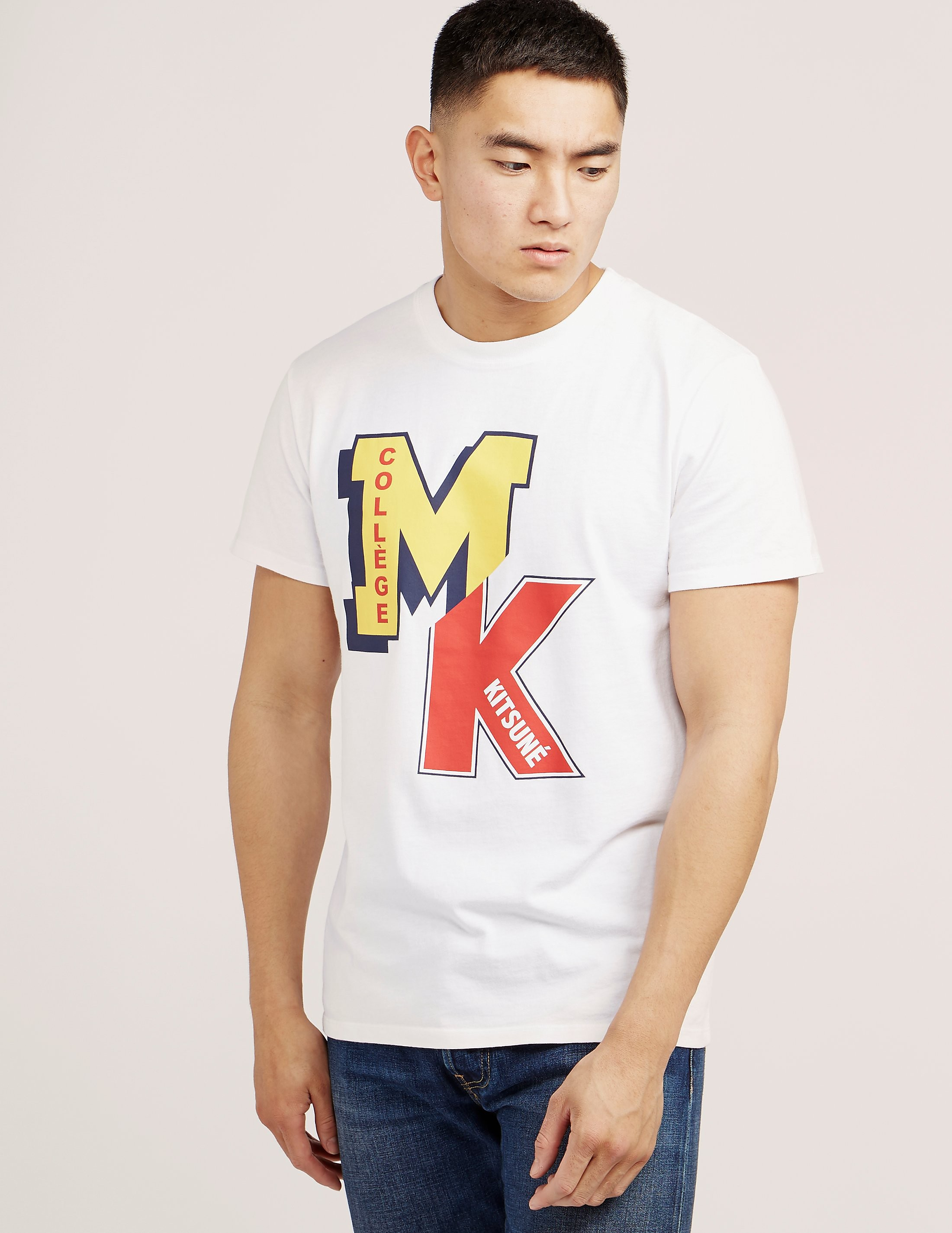 Maison Kitsune College Logo Short Sleeve T-Shirt