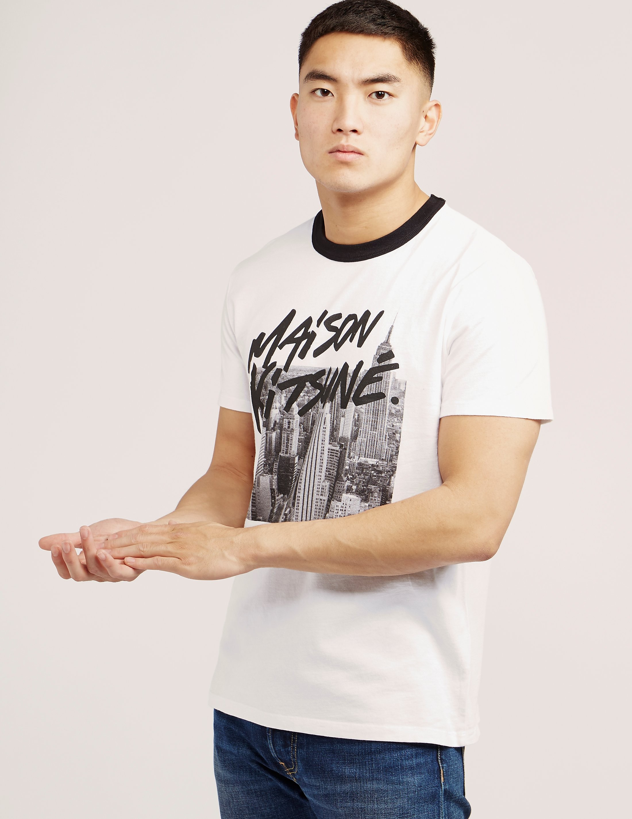 Maison Kitsune Sklyine Short Sleeve T-Shirt