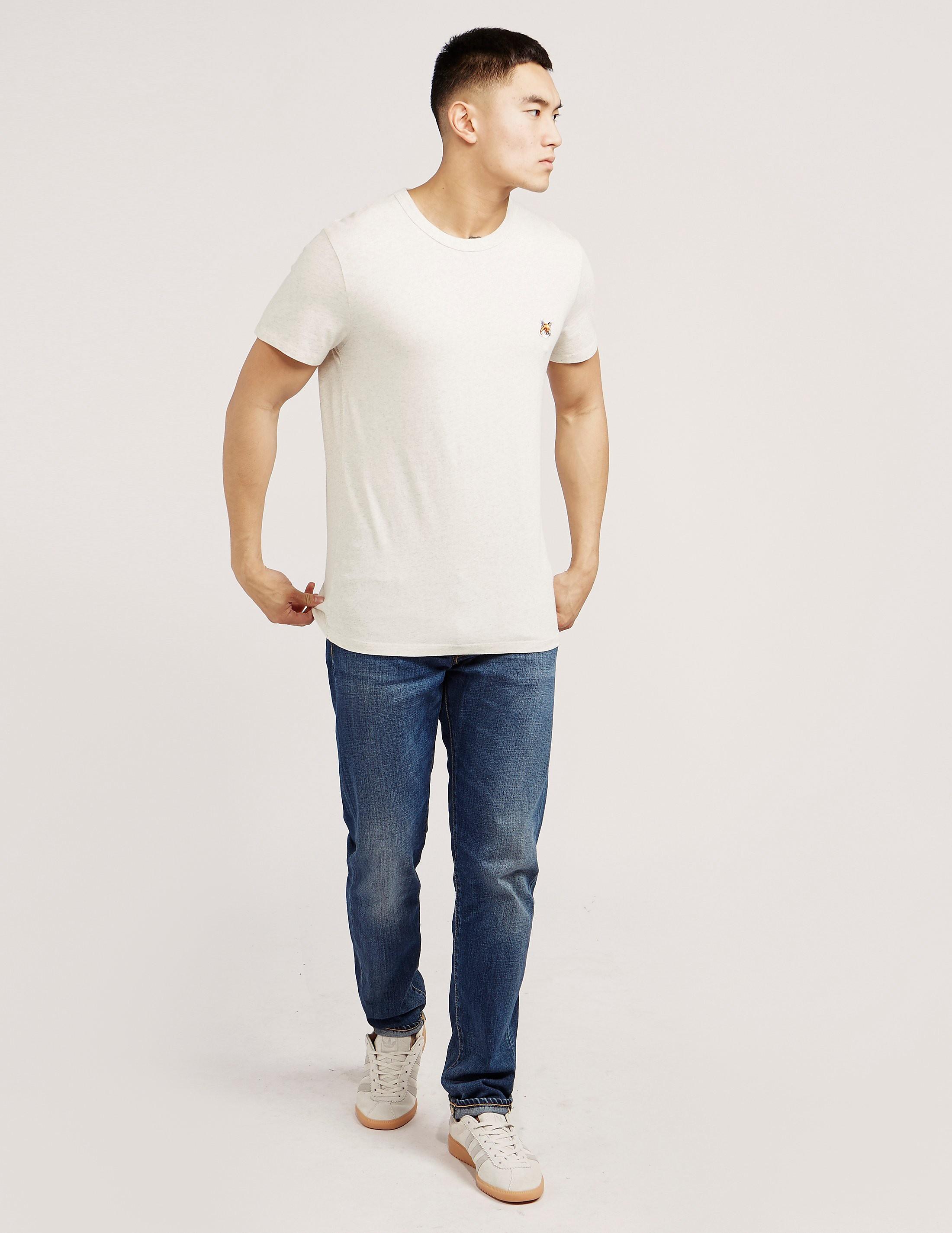 Maison Kitsune Foxhead Short Sleeve T-Shirt