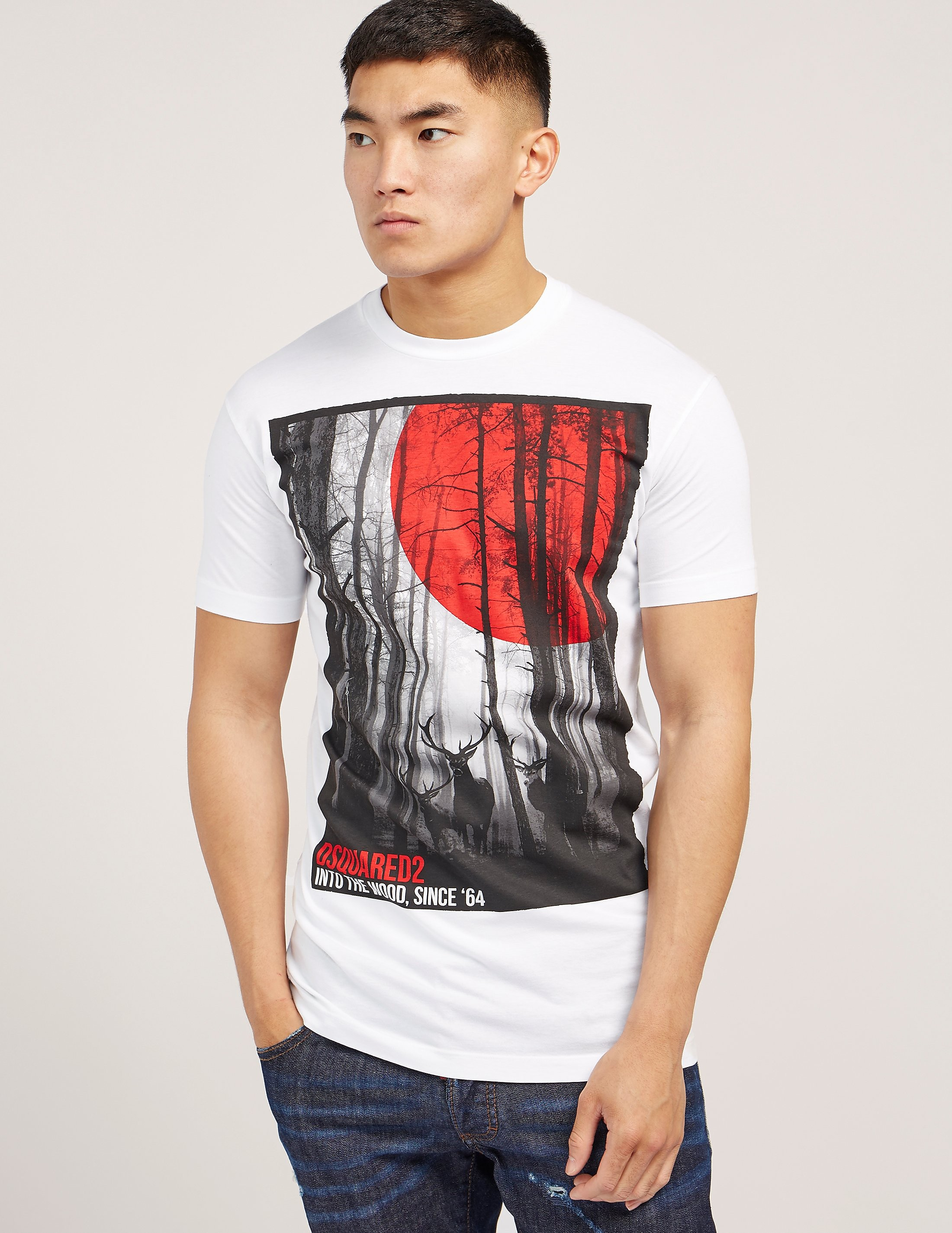 DSQUARED2 Forest Print Short Sleeve T-Shirt