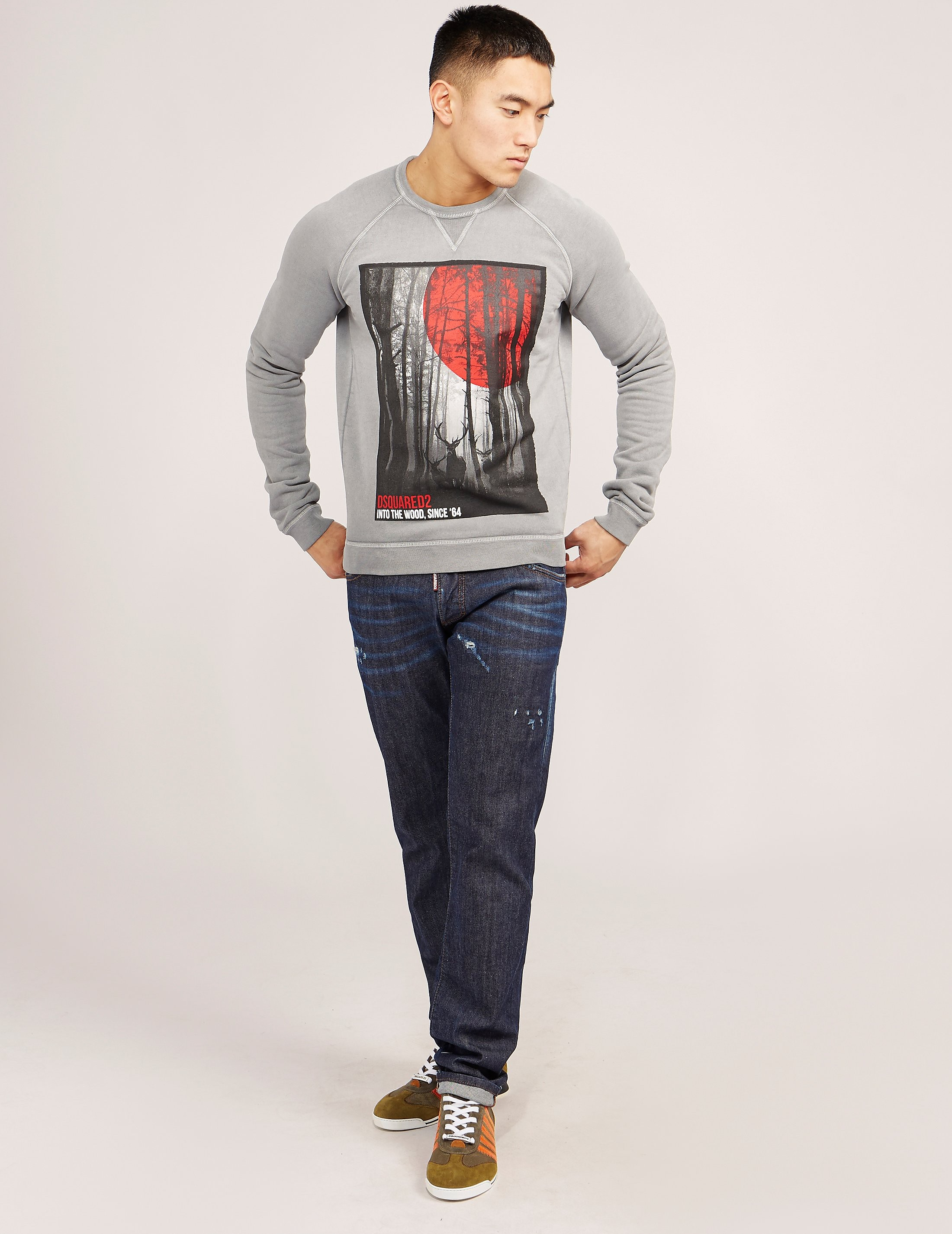 DSQUARED2 Forest Print Sweatshirt