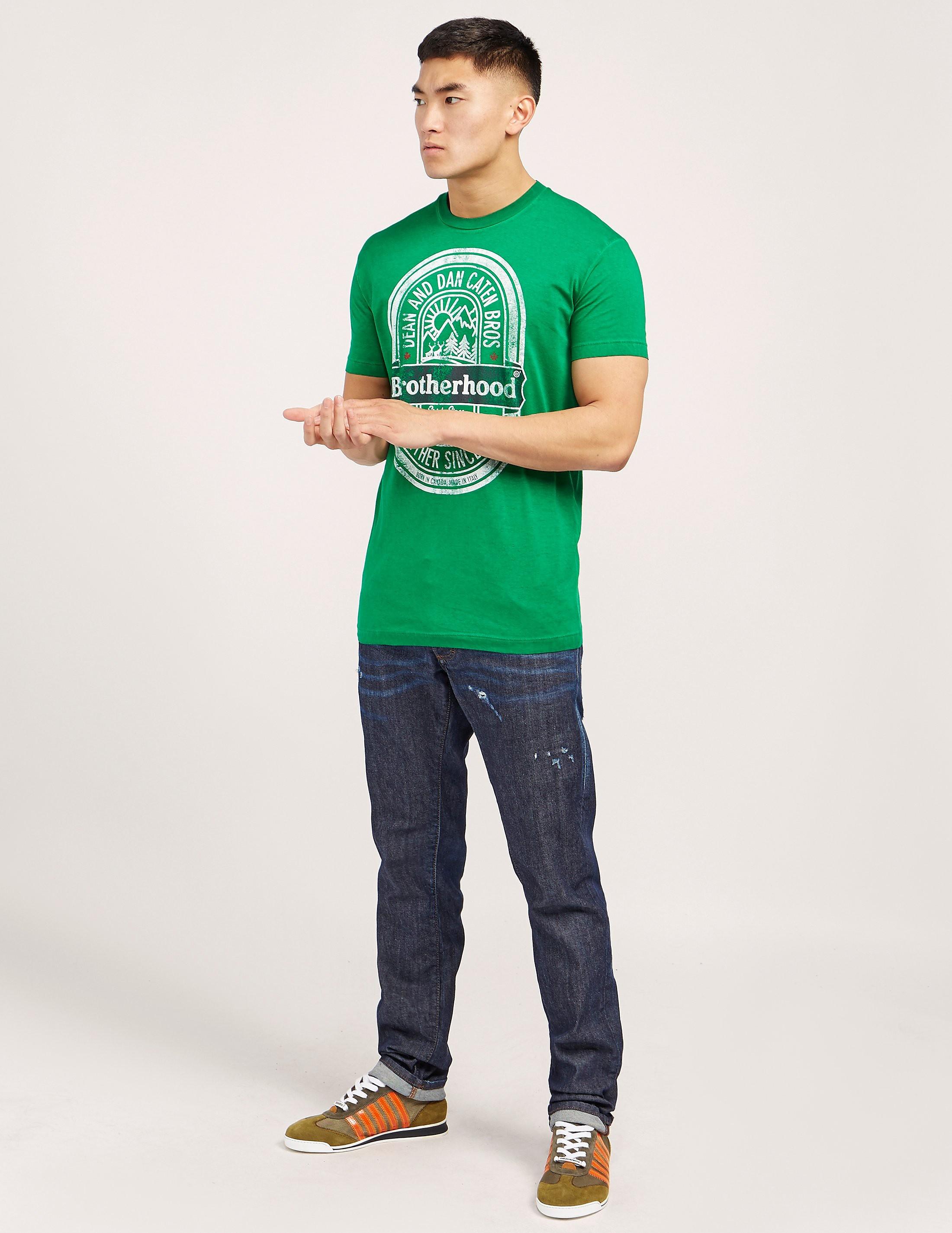 DSQUARED2 Beer Logo Short Sleeve T-Shirt