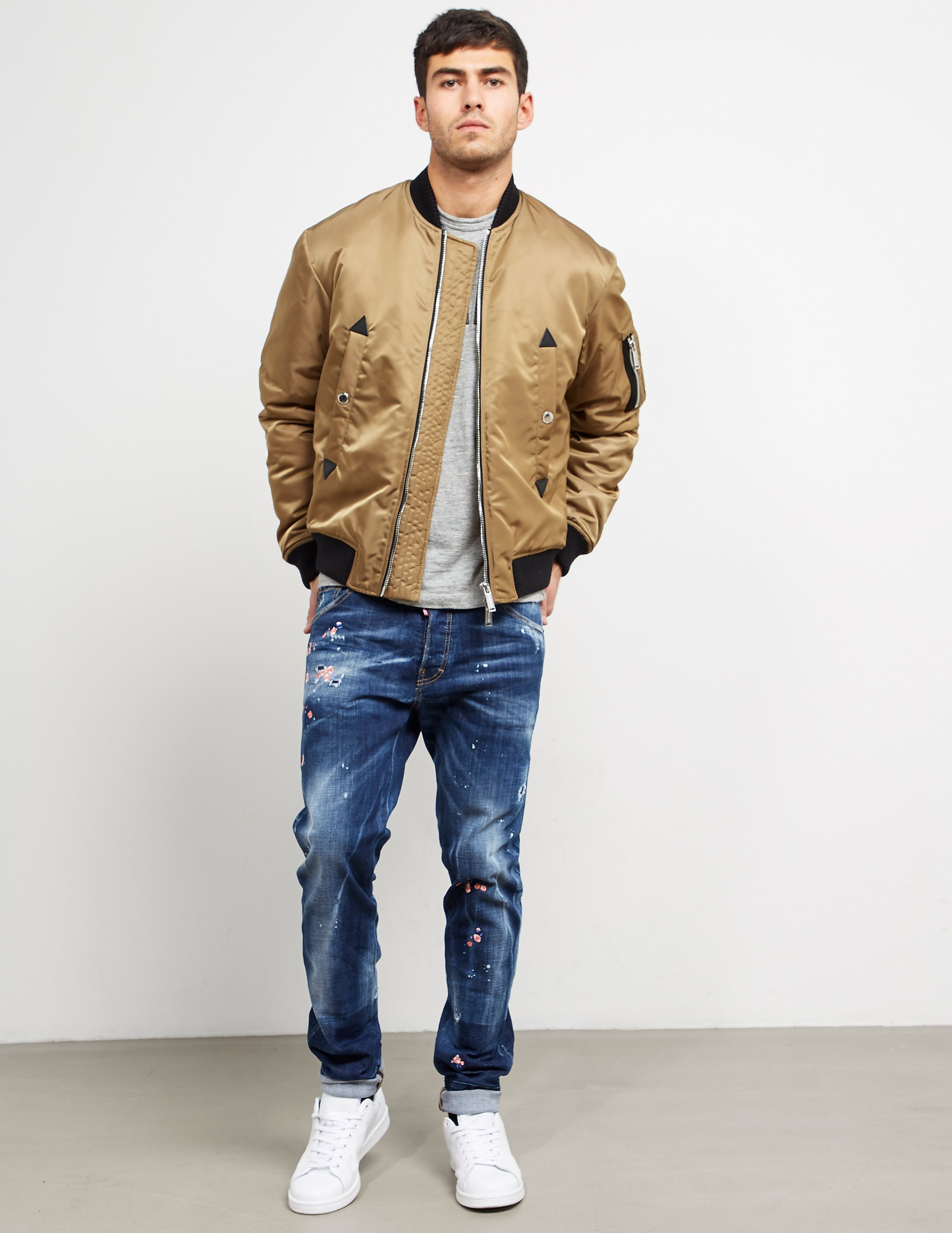 DSQUARED2 Aviator Padded Bomber Jacket