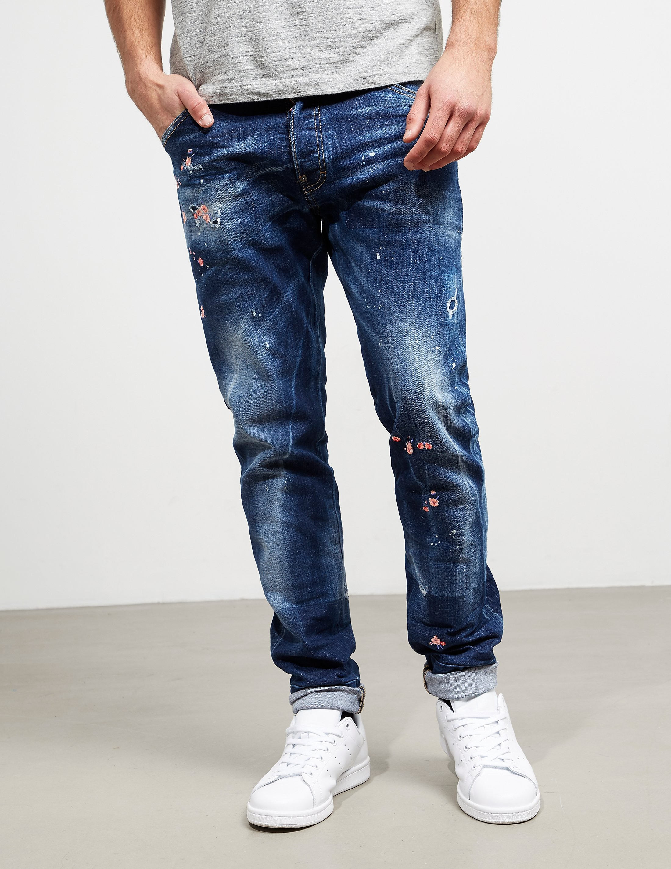 DSQUARED2 Flower Jeans