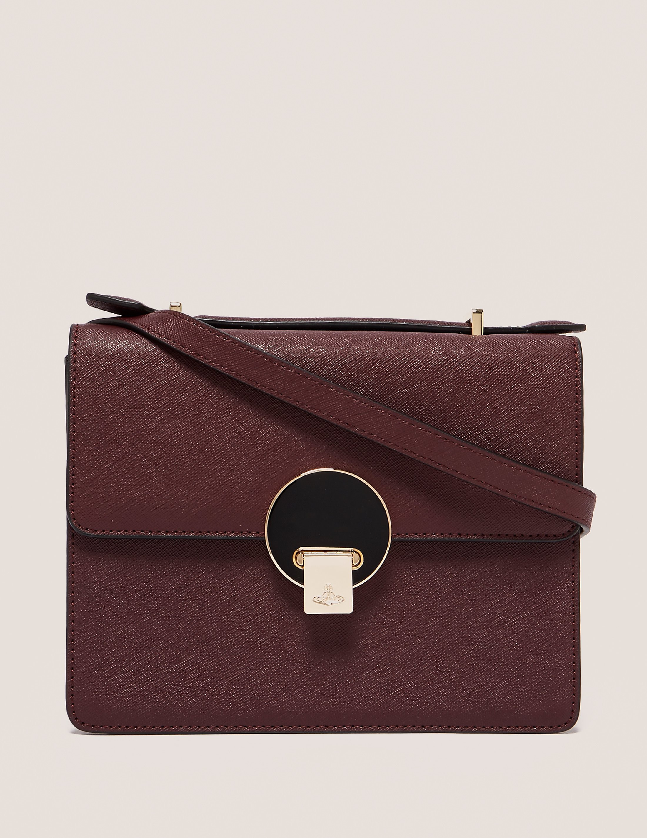 Vivienne Westwood Saffiano Shoulder Bag