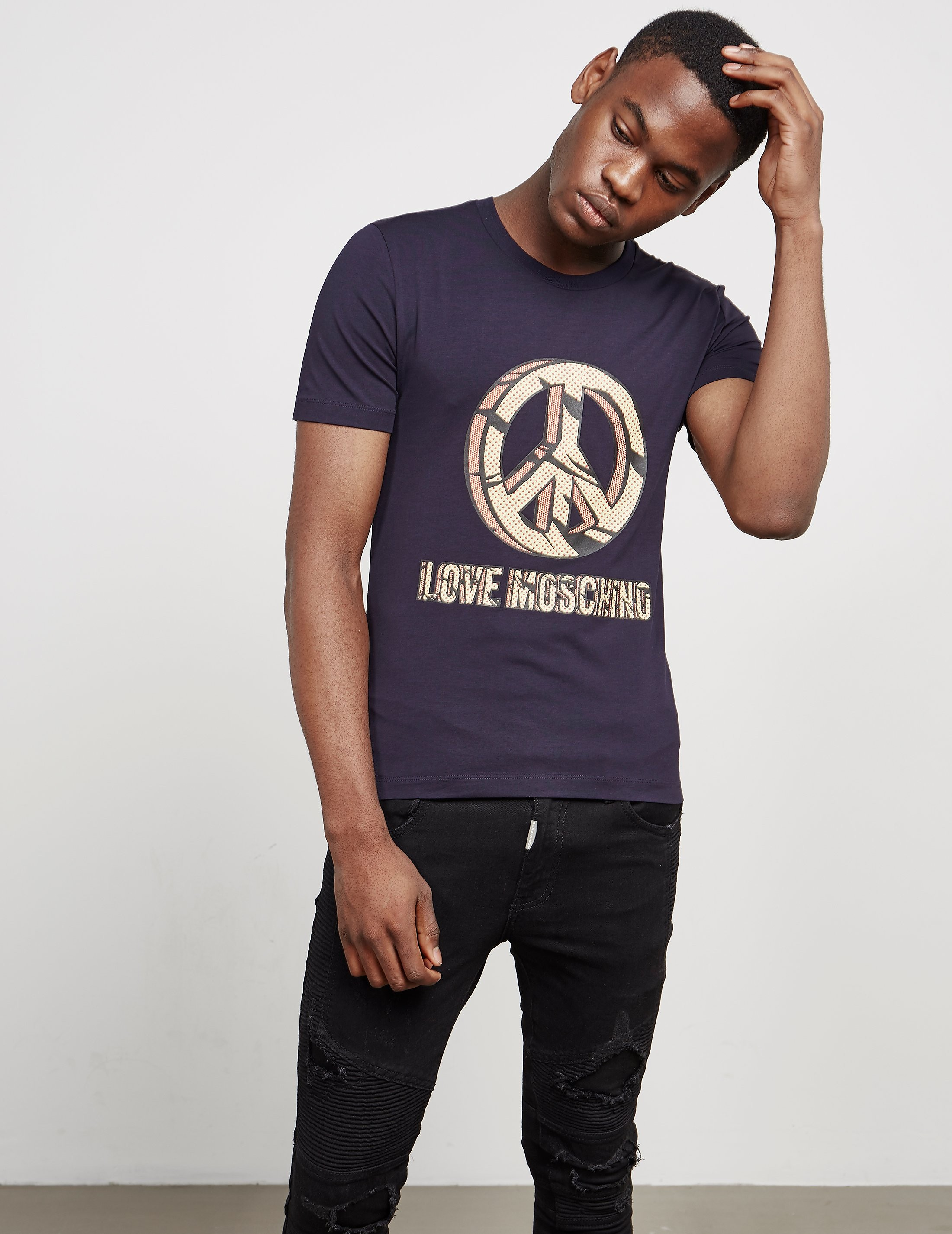 Love Moschino Peace Rock Short Sleeve T-Shirt