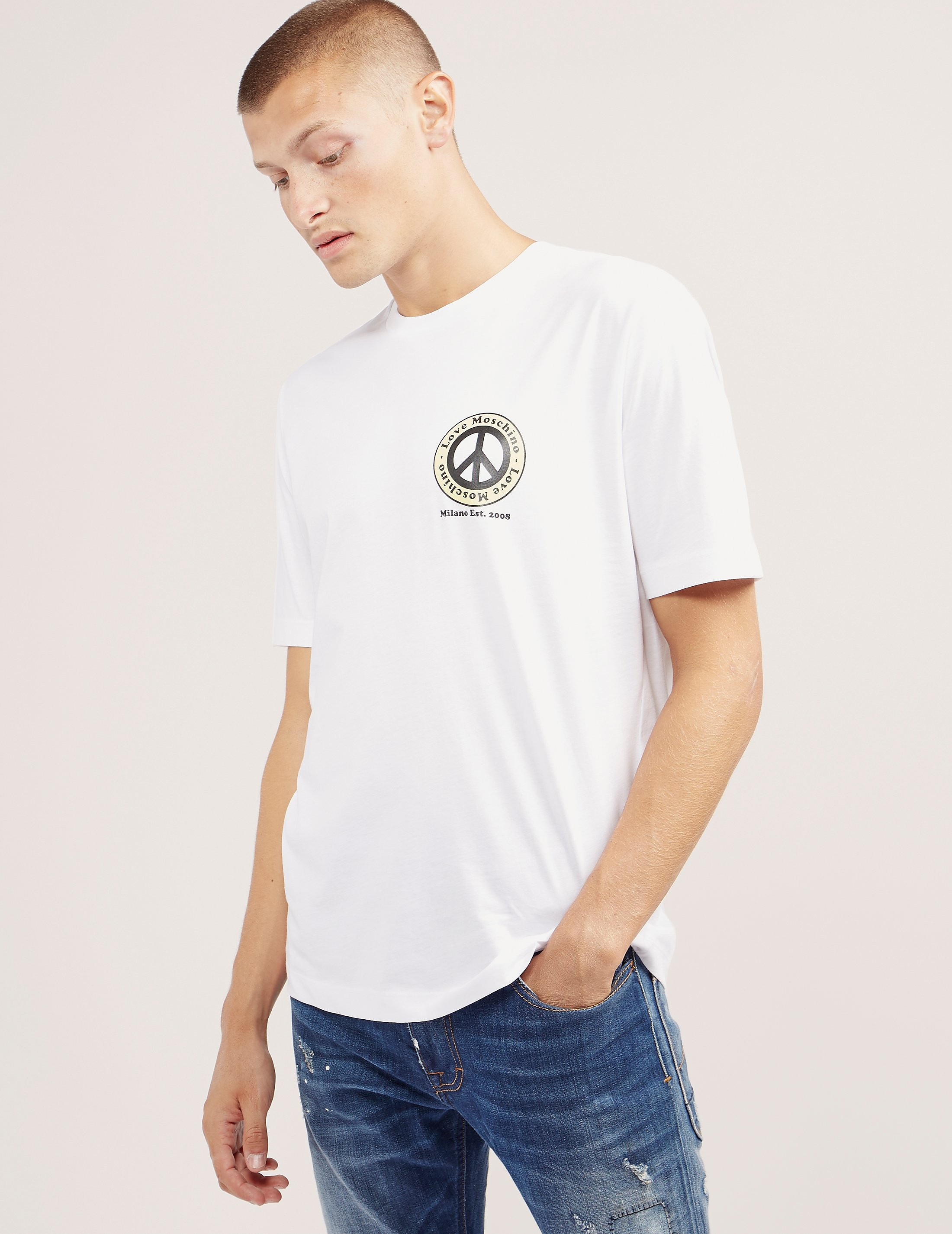 Love Moschino Peace Short Sleeve T-Shirt