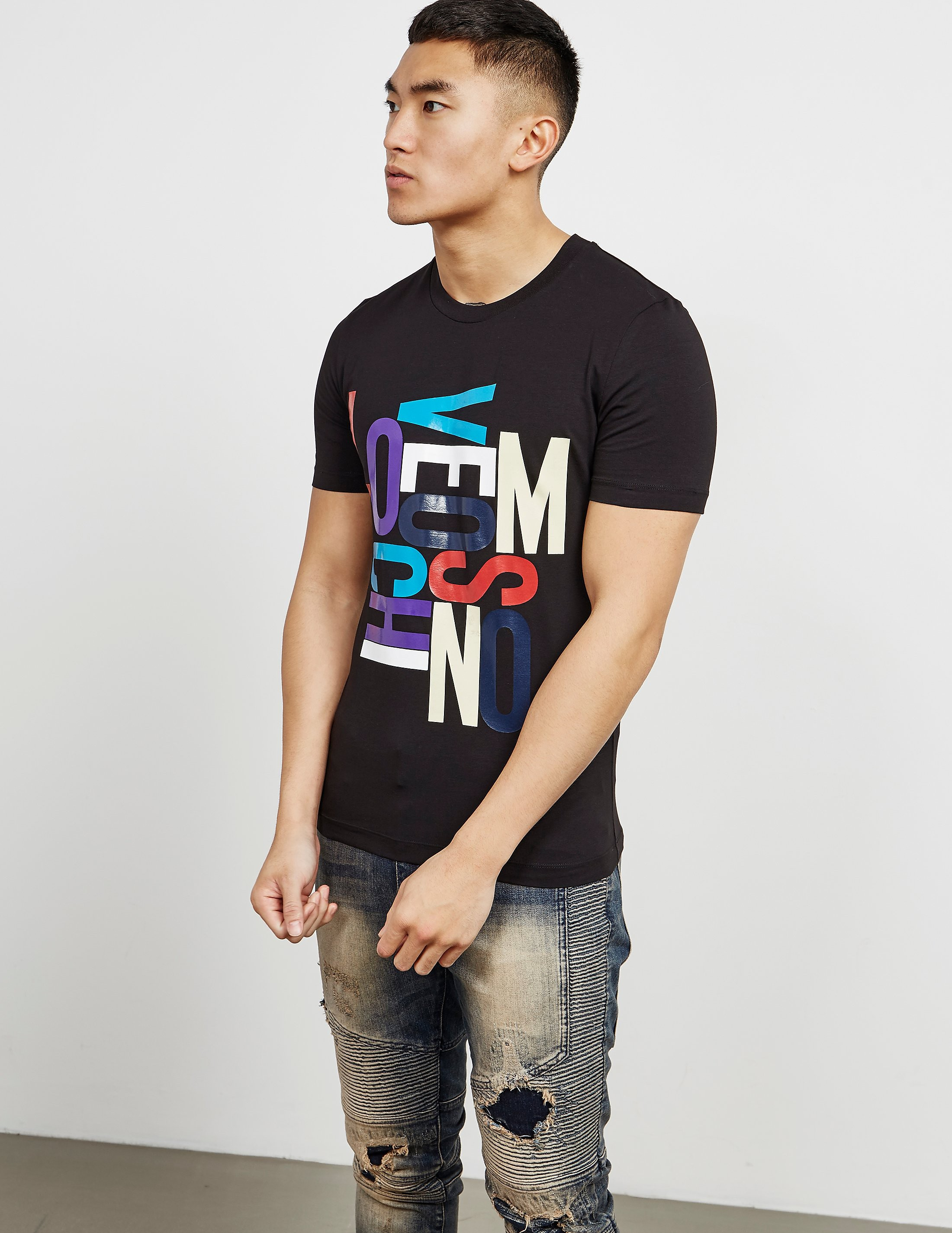 Love Moschino Letters Short Sleeve T-Shirt