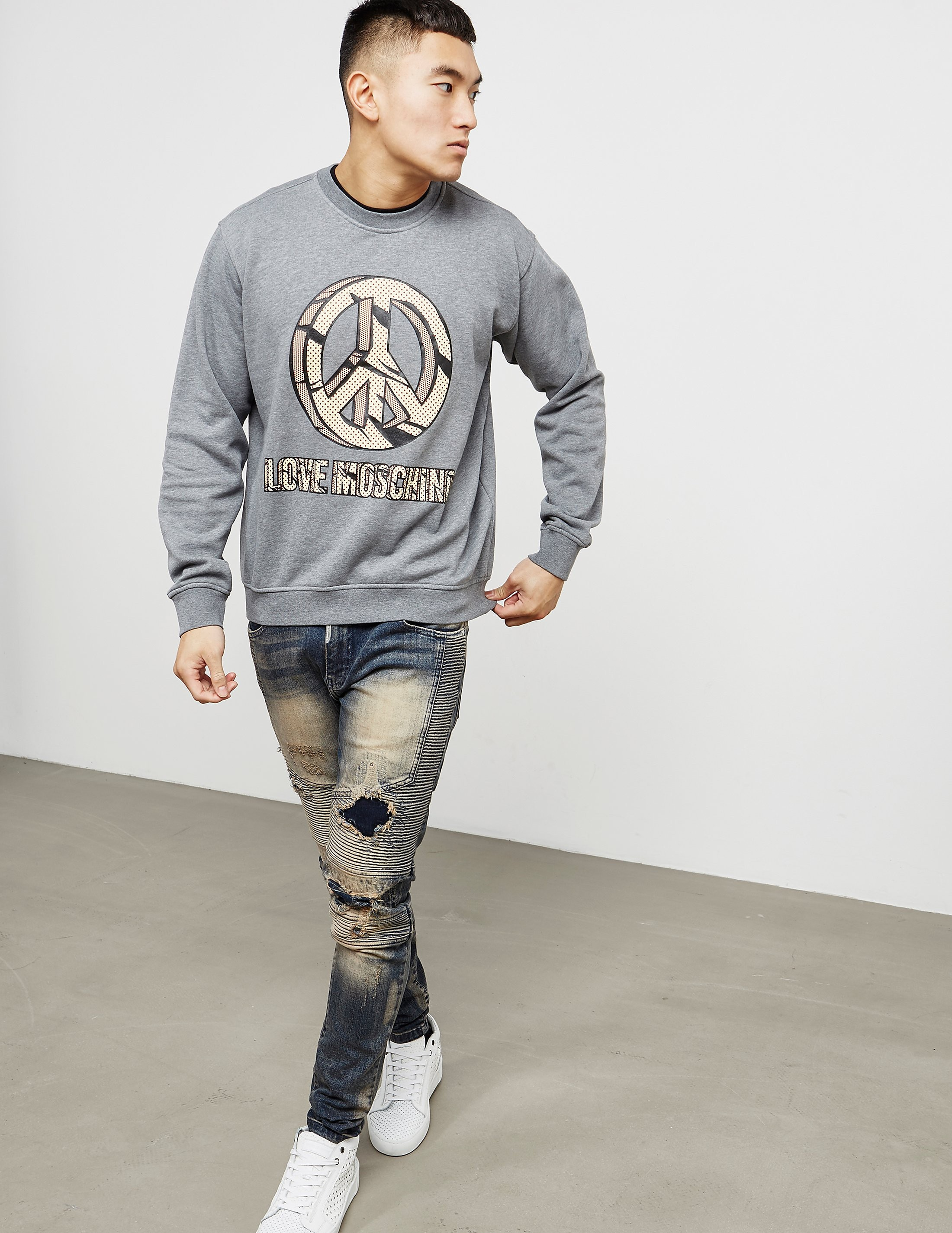 Love Moschino Peace Rock Sweatshirt
