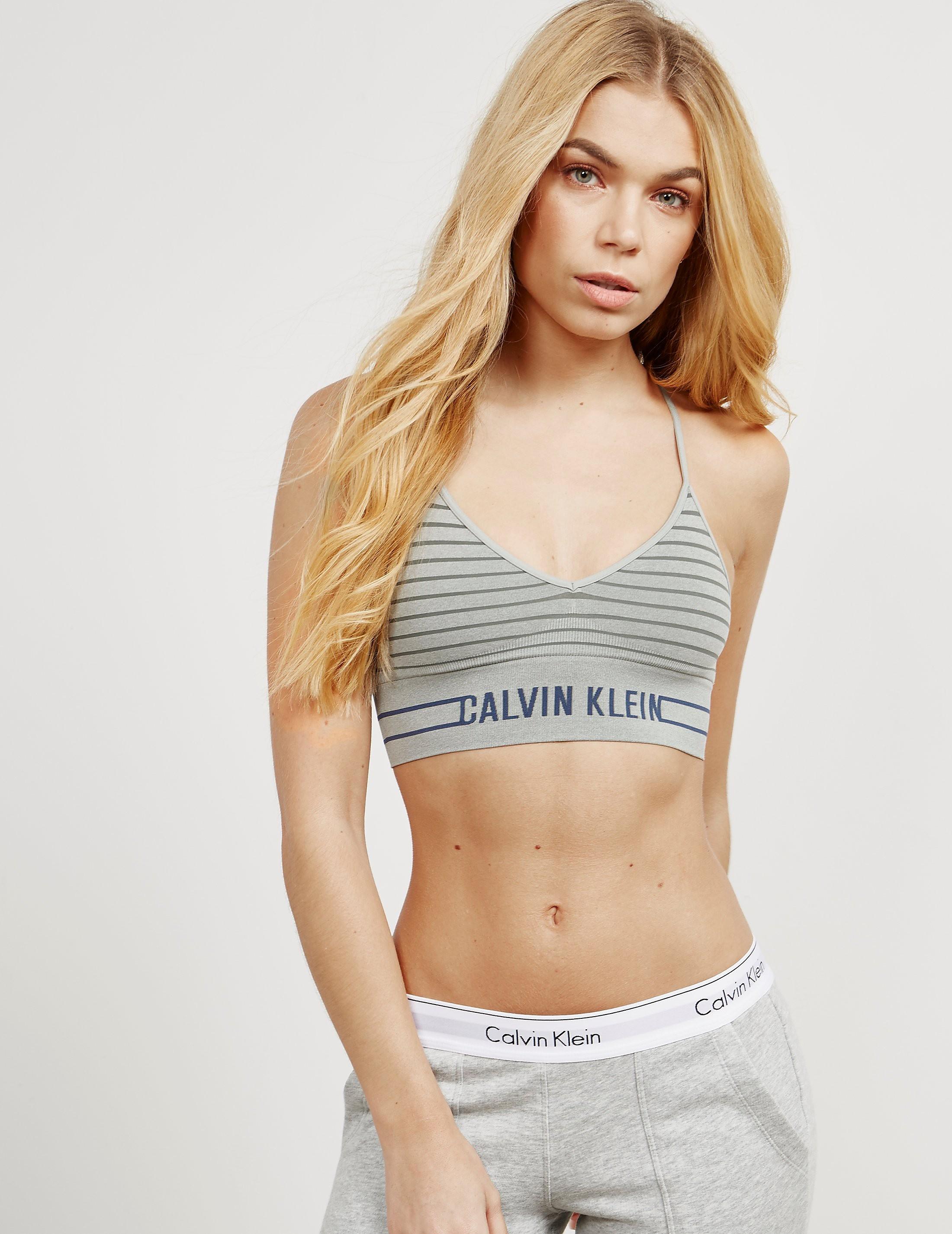 Calvin Klein Striped Bralette - Online Exclusive