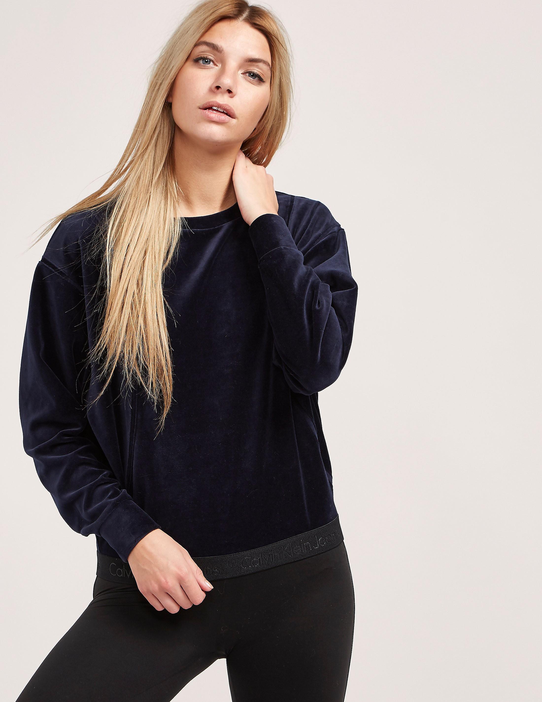Calvin Klein Herma Velour Sweatshirt