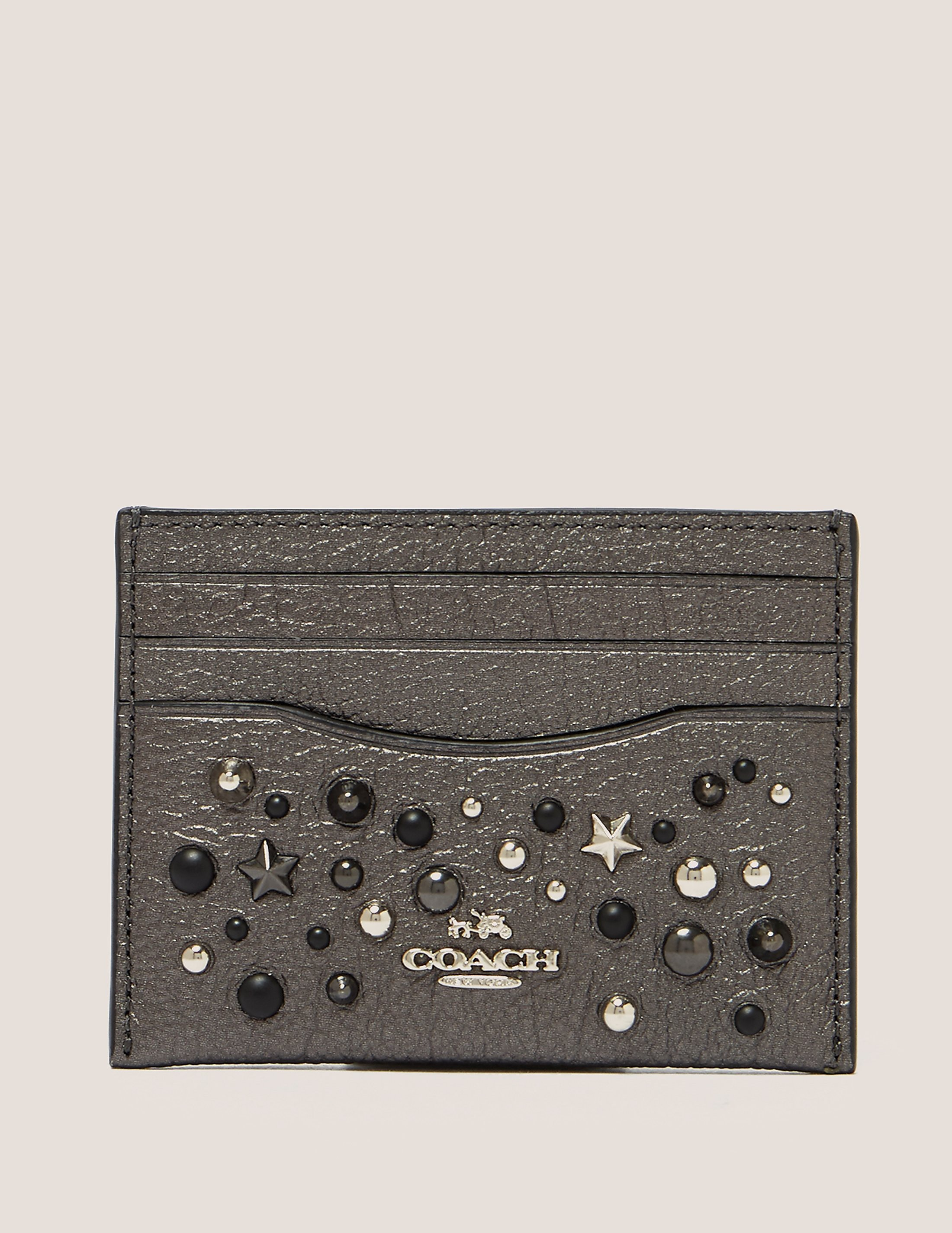 COACH Embellished Card Case