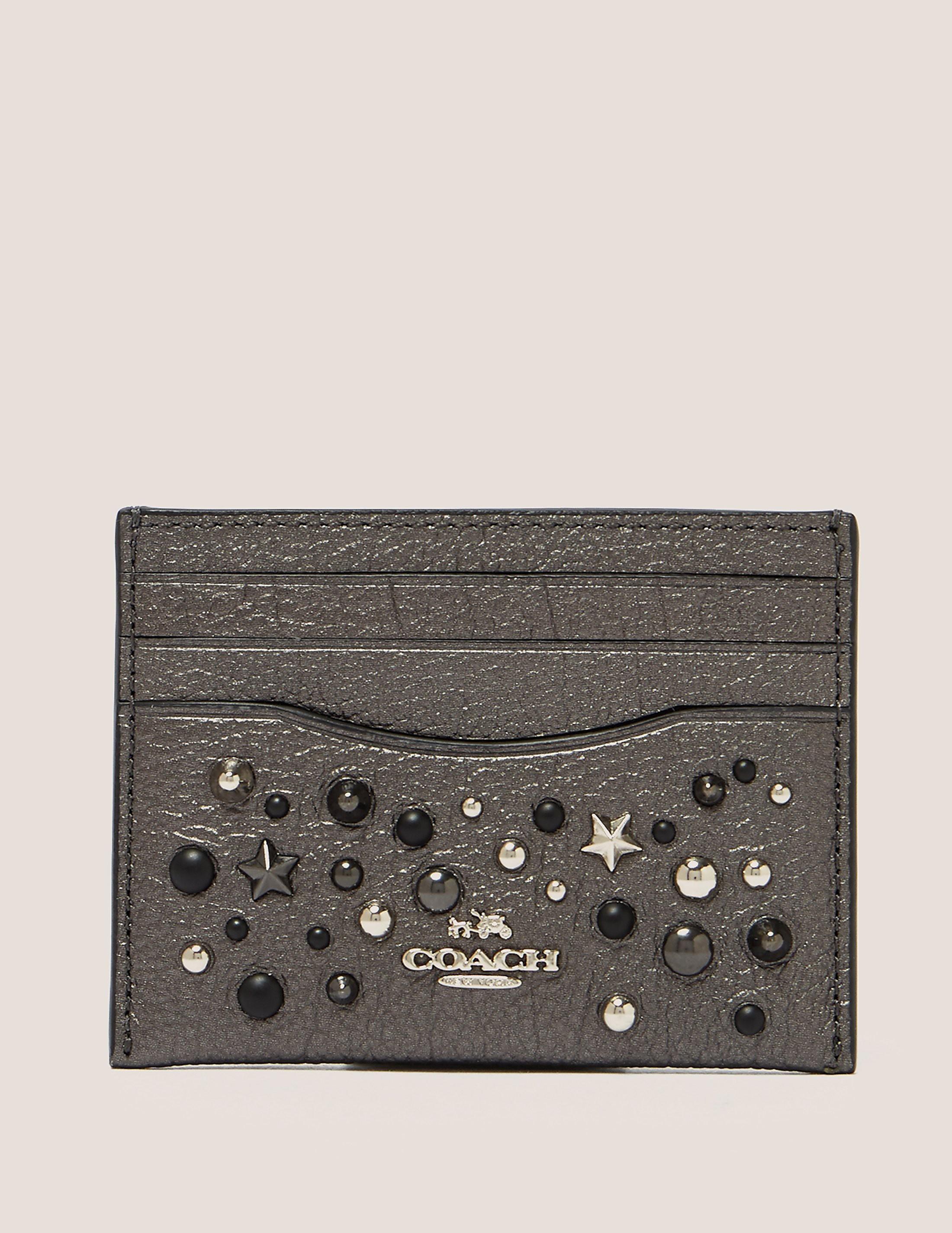 COACH Embellished Card Case