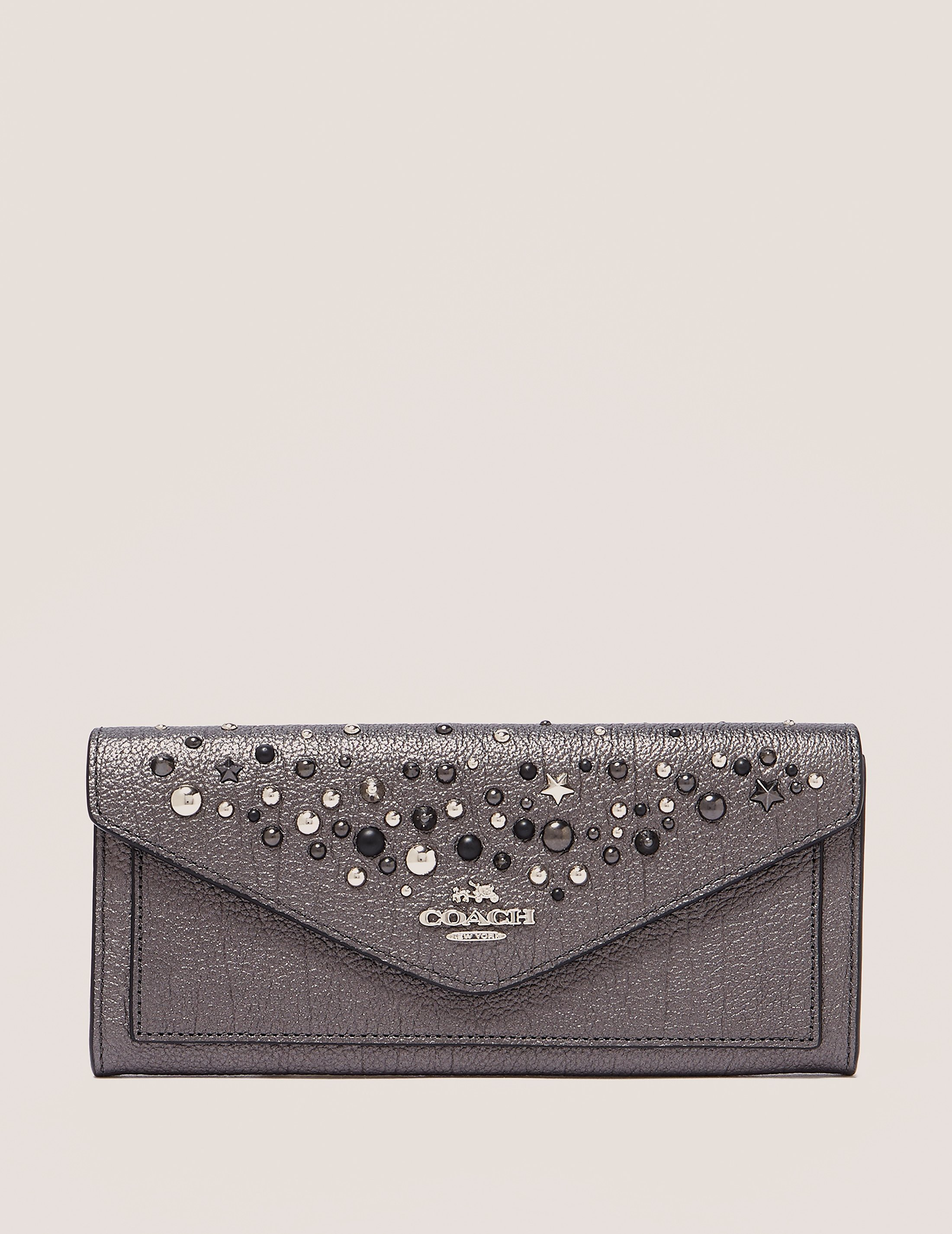 COACH Embellished Soft Wallet