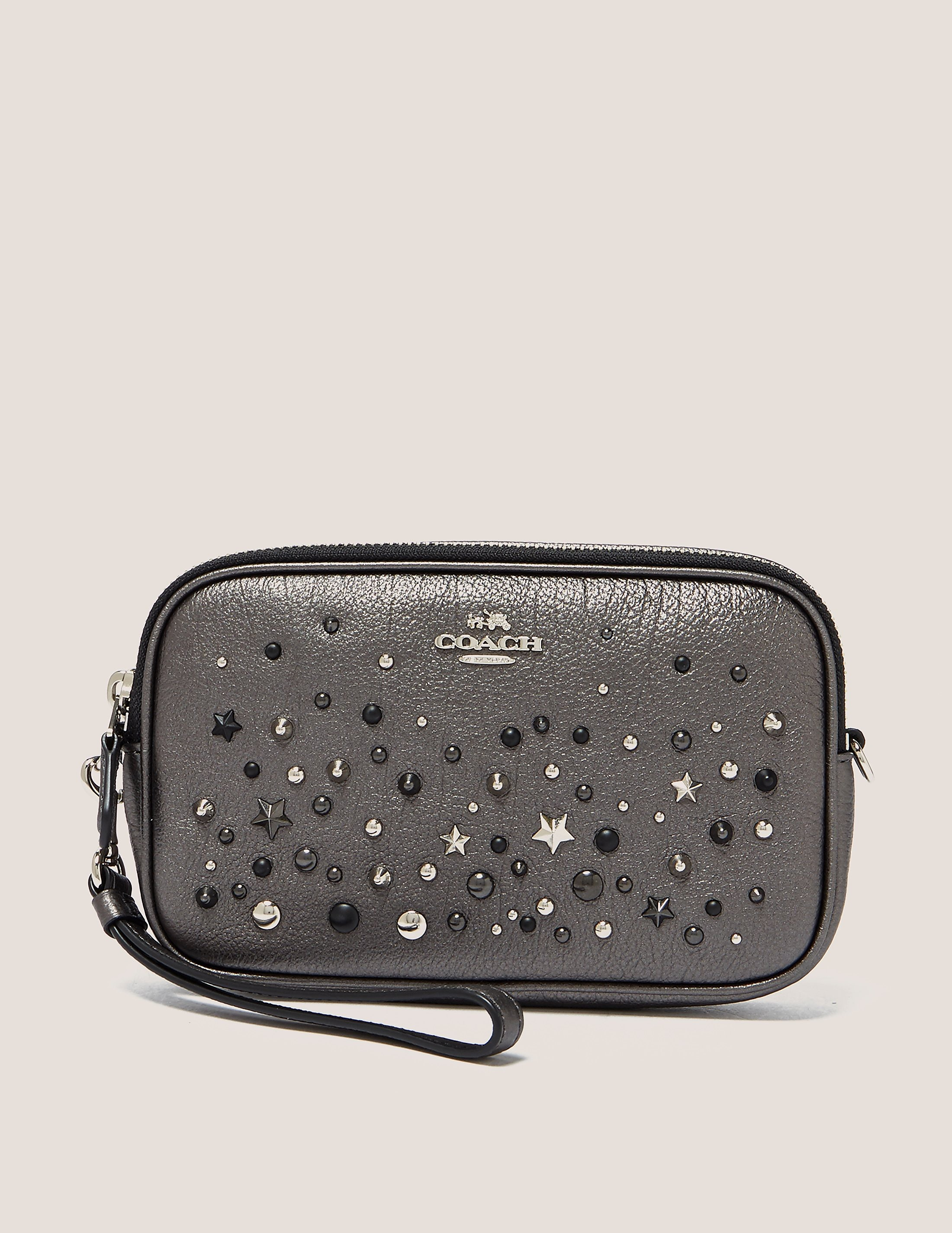 COACH Embellished Crossbody Clutch