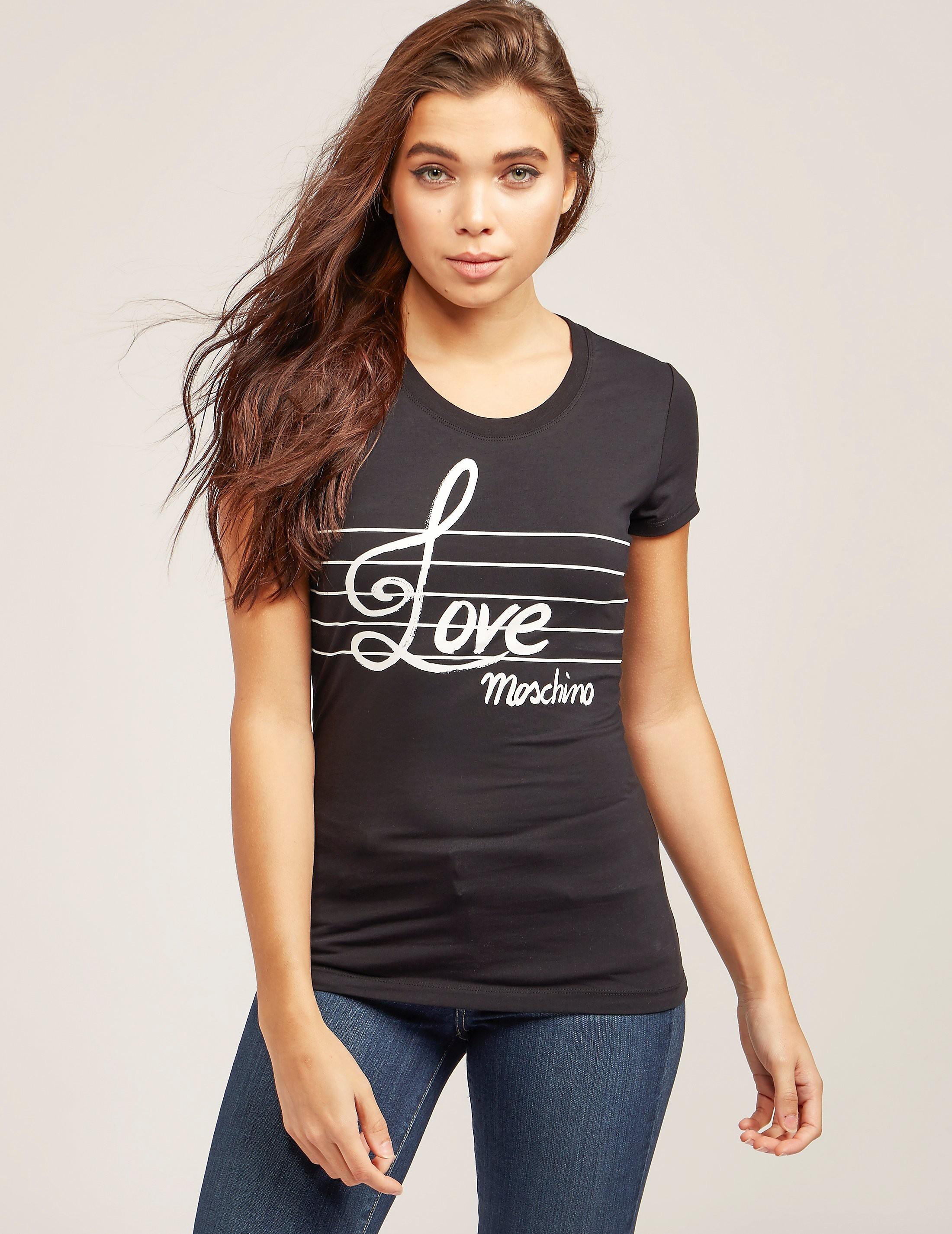 Love Moschino Music Short Sleeve T-Shirt