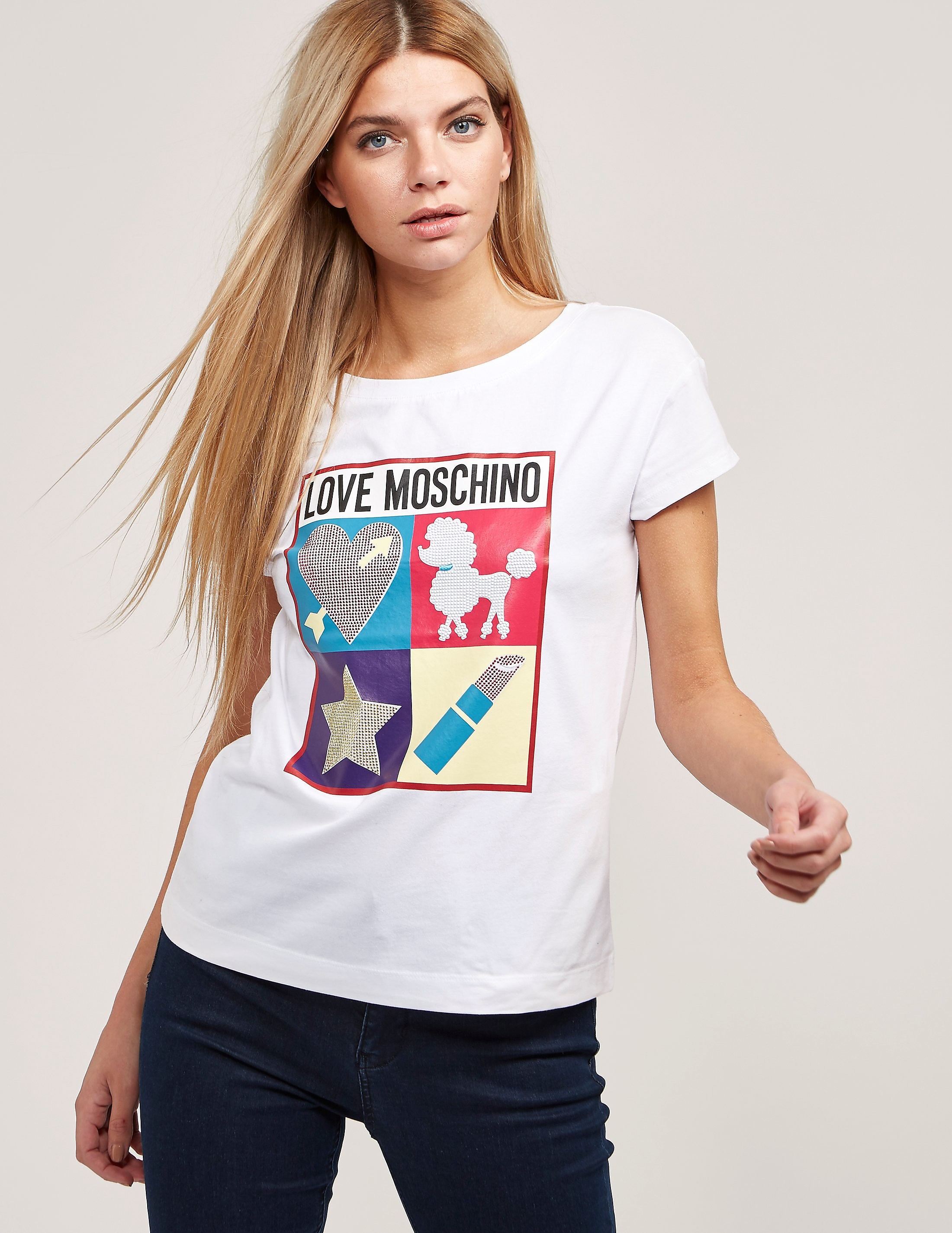 Love Moschino Diamond Short Sleeve T-Shirt