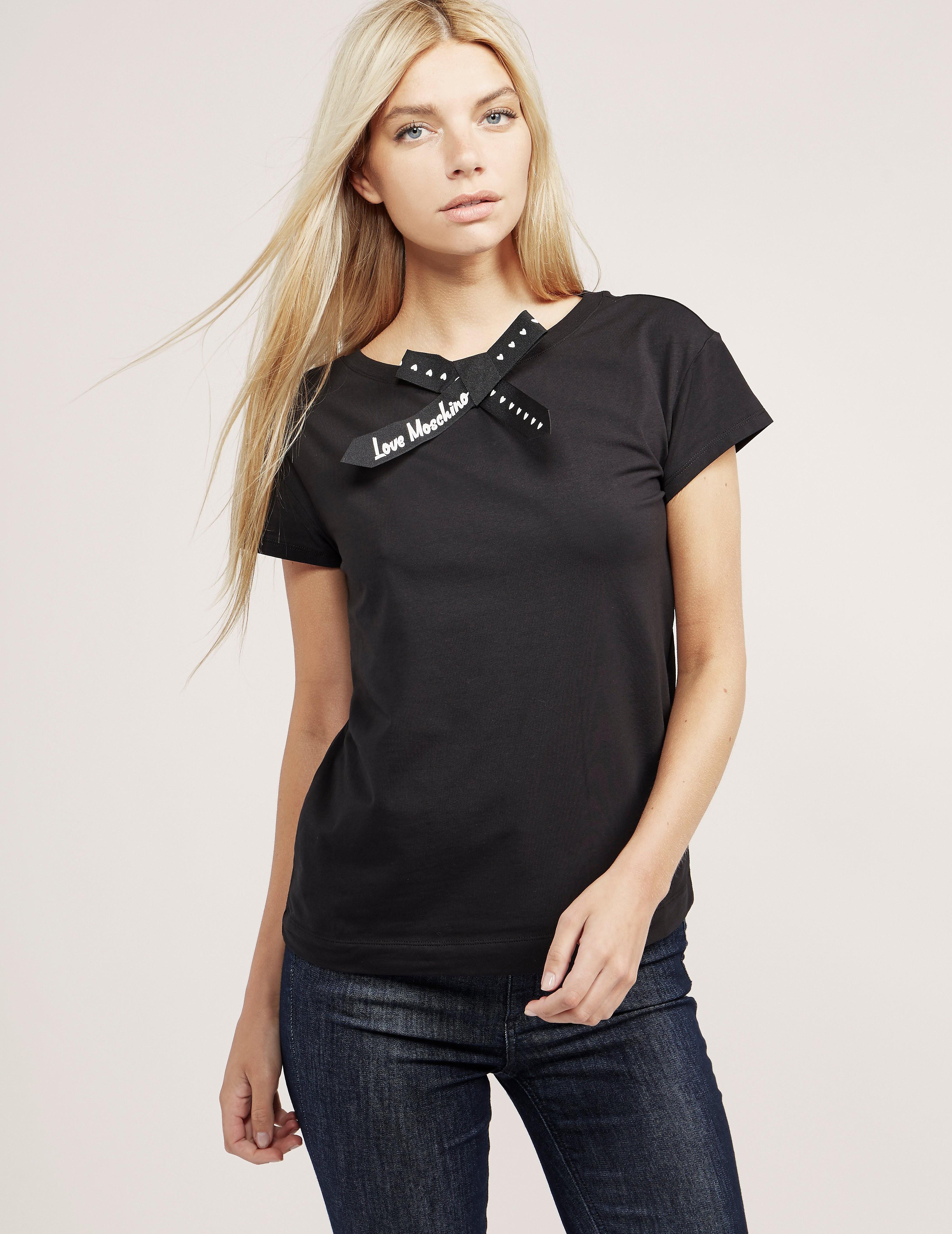 Love Moschino Bow Short Sleeve T-Shirt