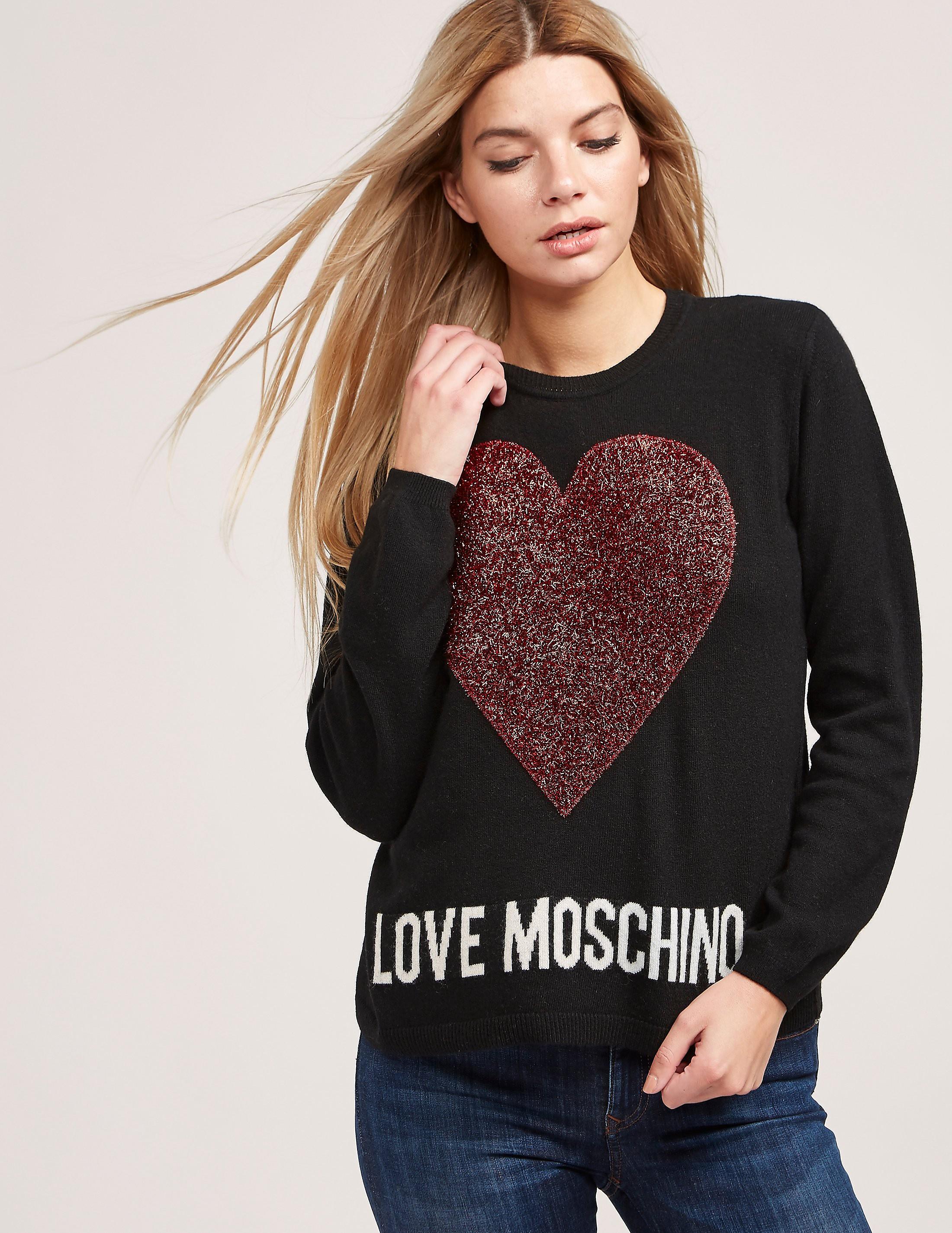 Love Moschino Logo Heart Knitted Jumper