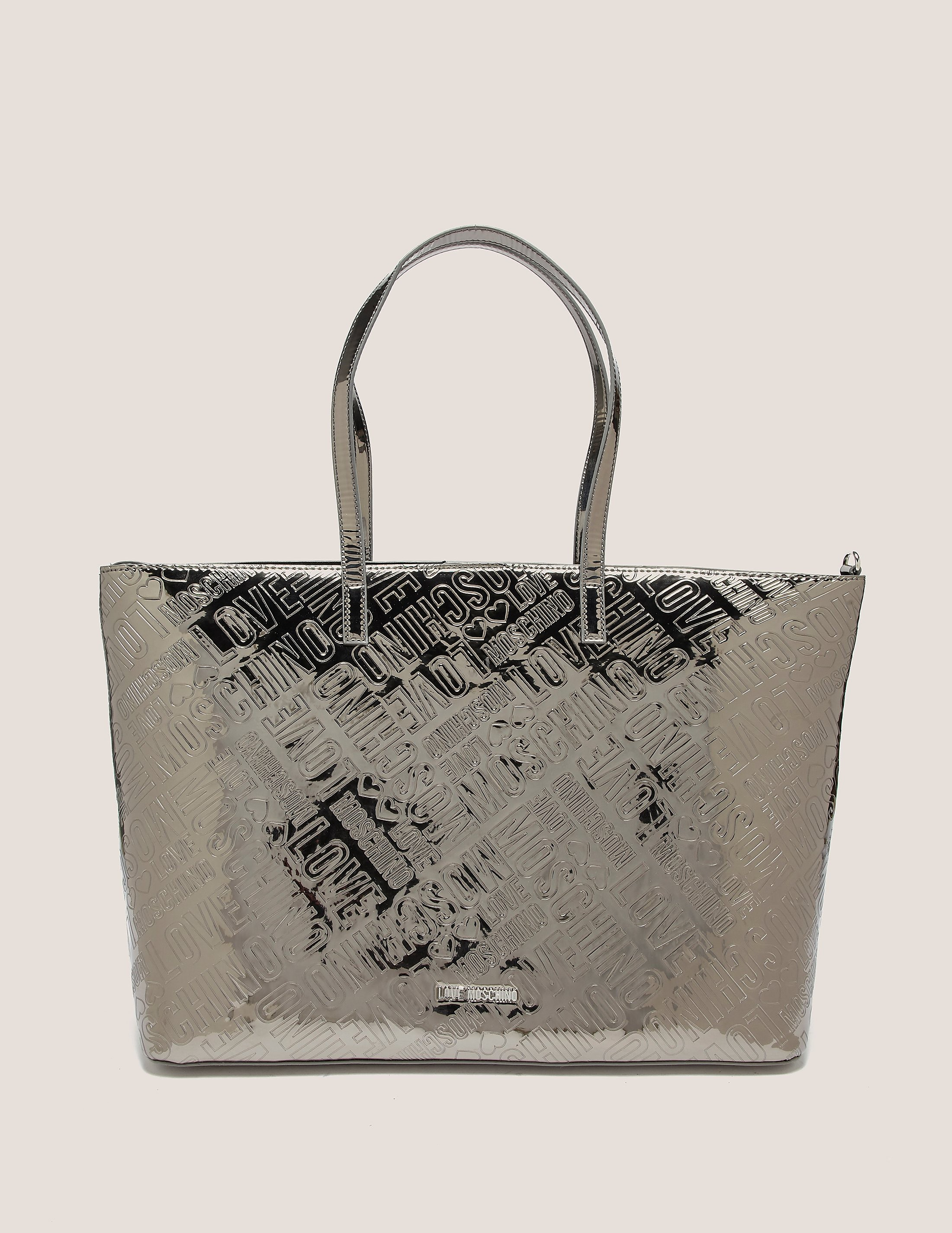 Love Moschino Patent Logo Shopper Bag