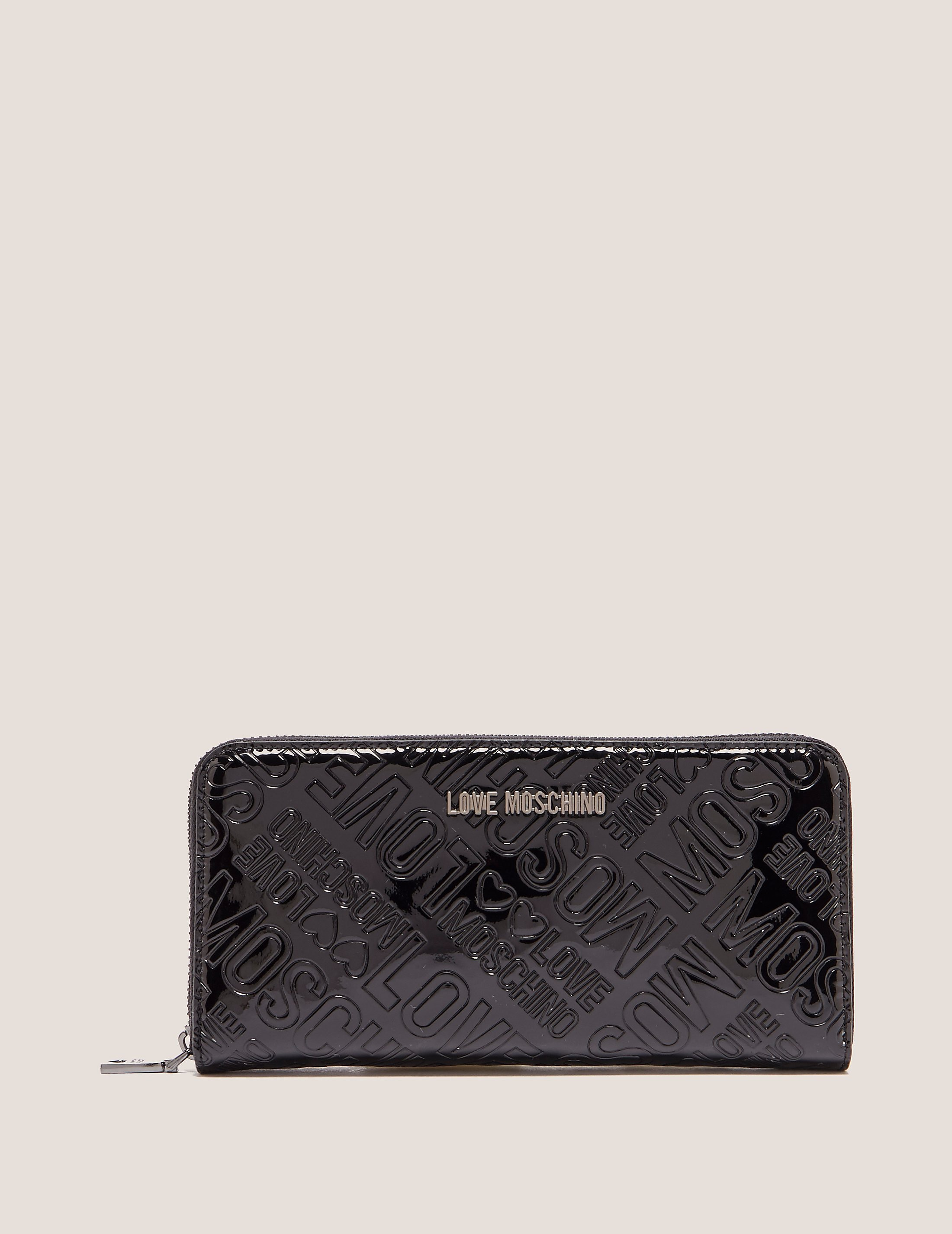 Love Moschino Patent Logo Wallet