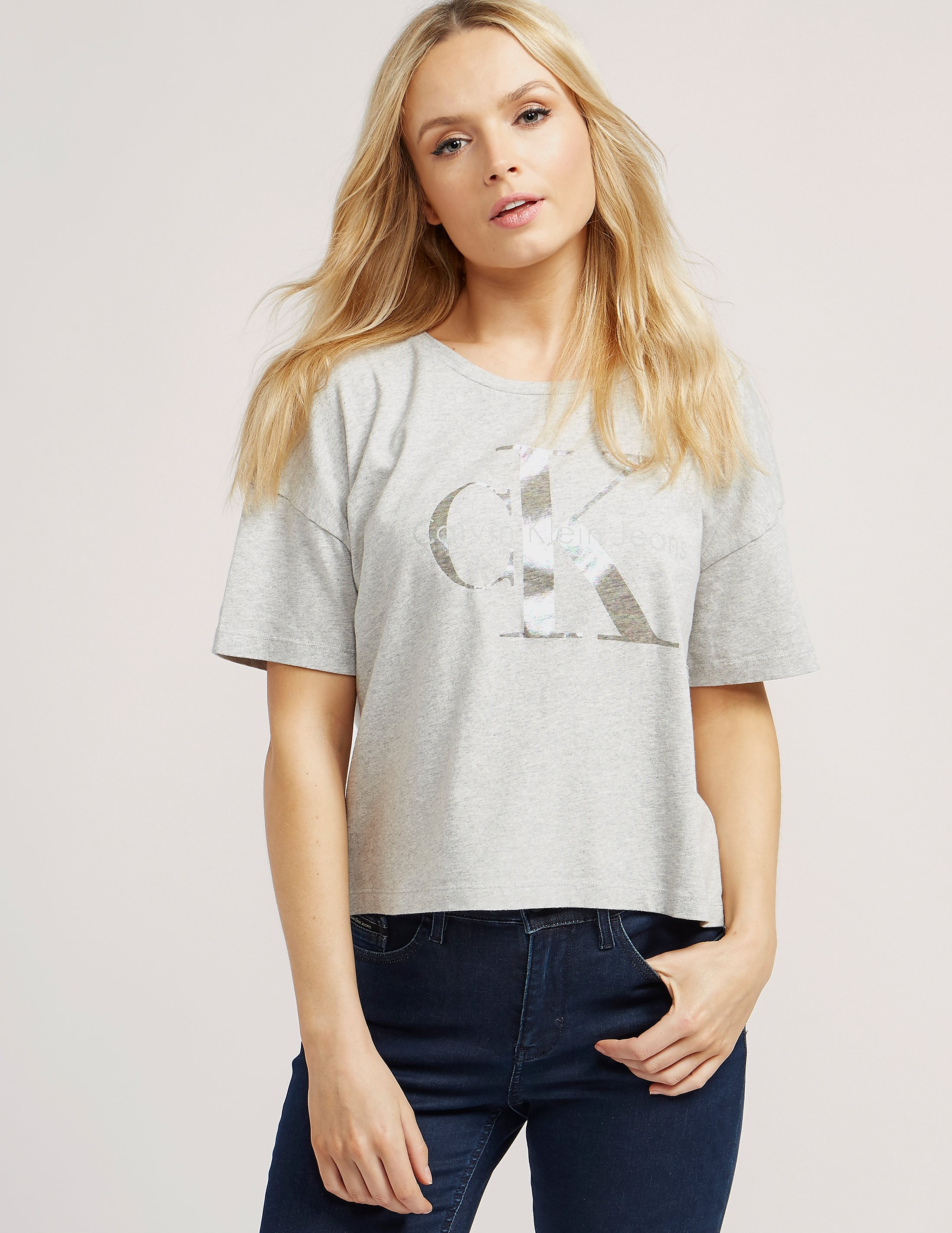 Calvin Klein Cropped Logo Short Sleeve T-Shirt
