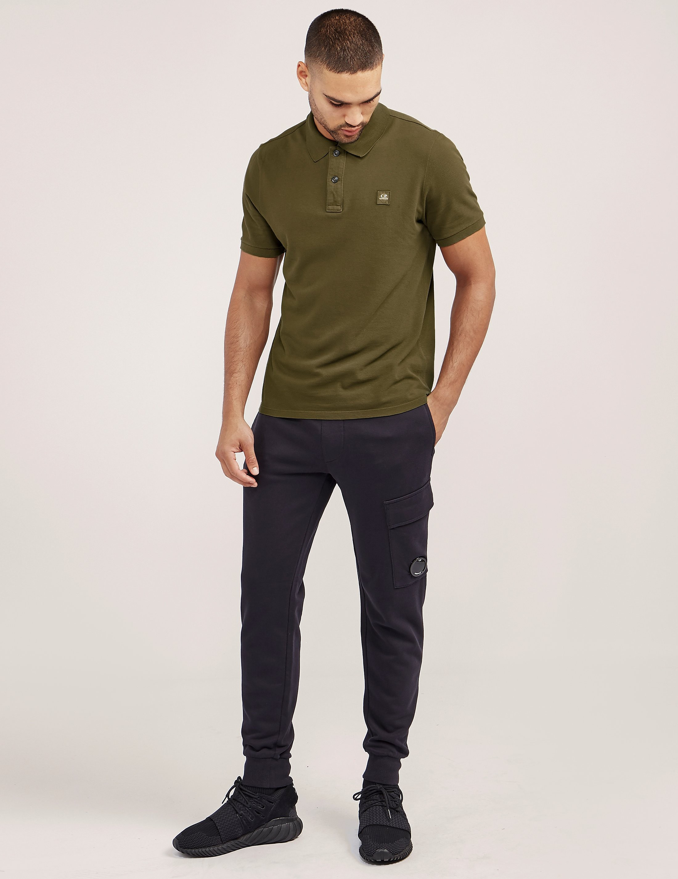 CP Company Patch Short Sleeve Polo Shirt