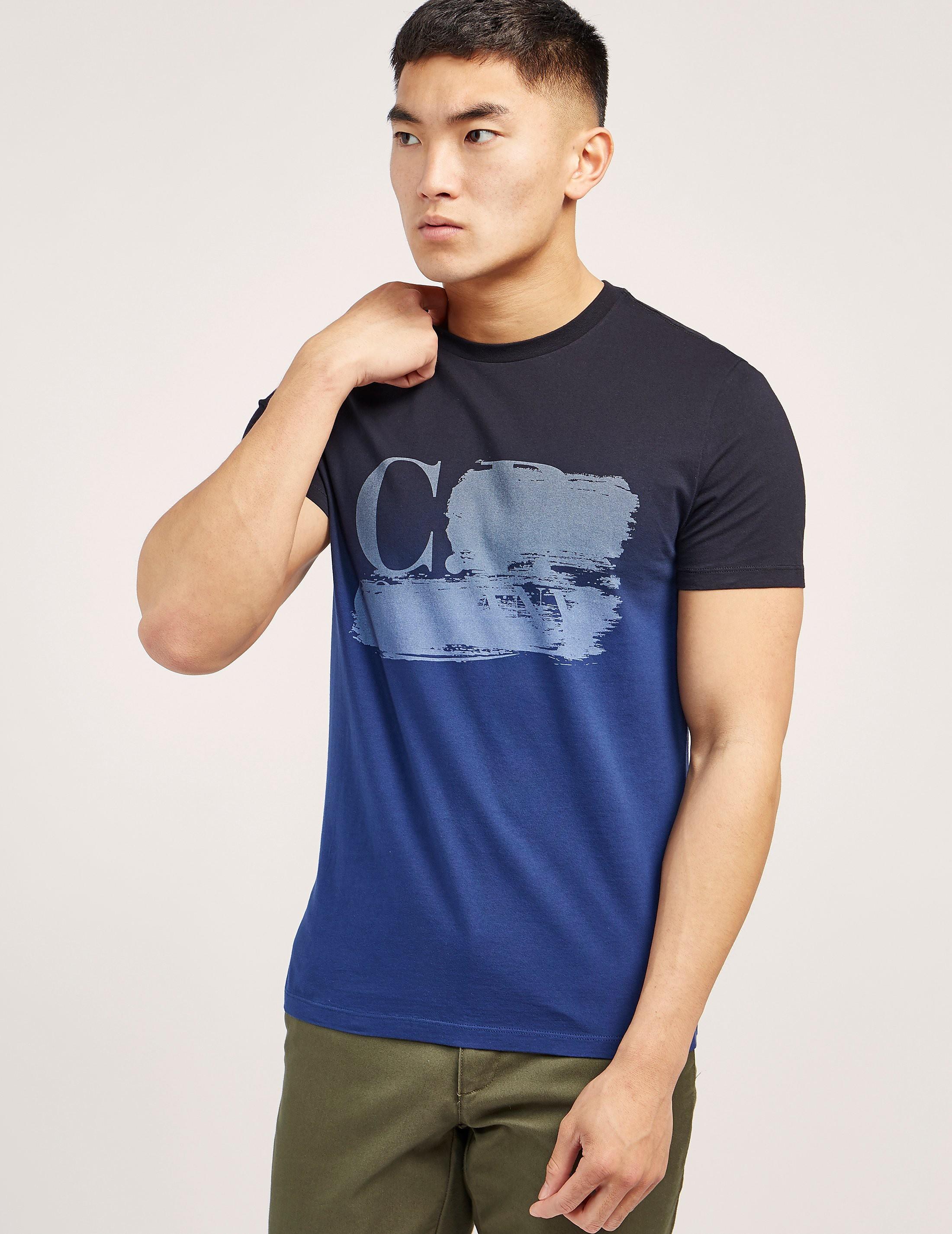 CP Company Dip Dye Short Sleeve Logo T-Shirt