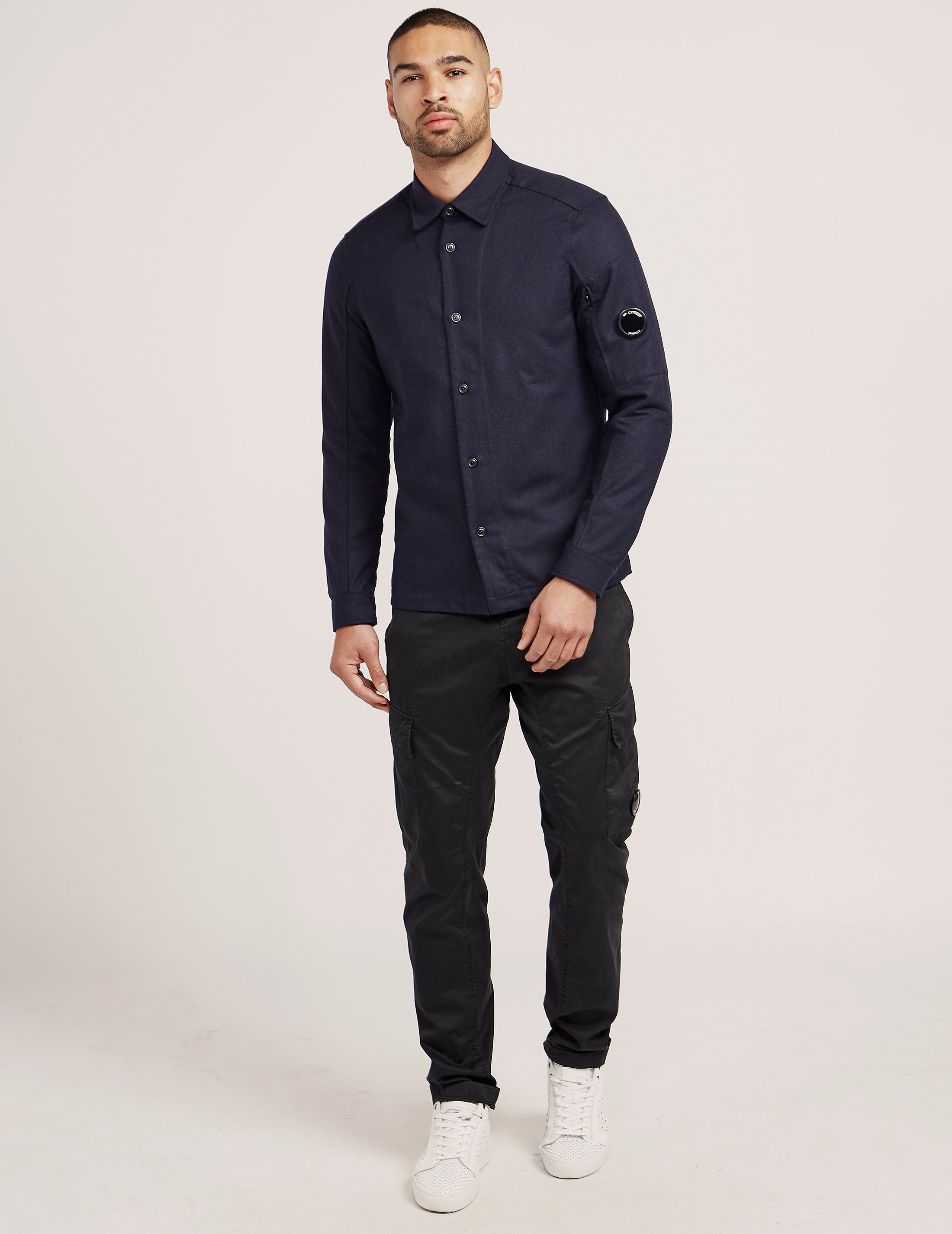 CP Company Wool Lens Long Sleeve Shirt