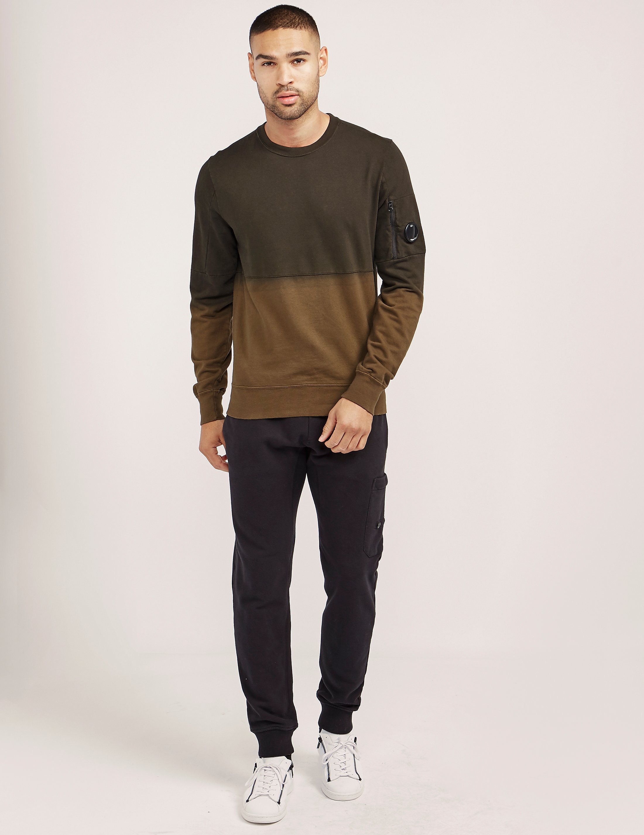 CP Company Dip Dye Crew Neck Sweatshirt