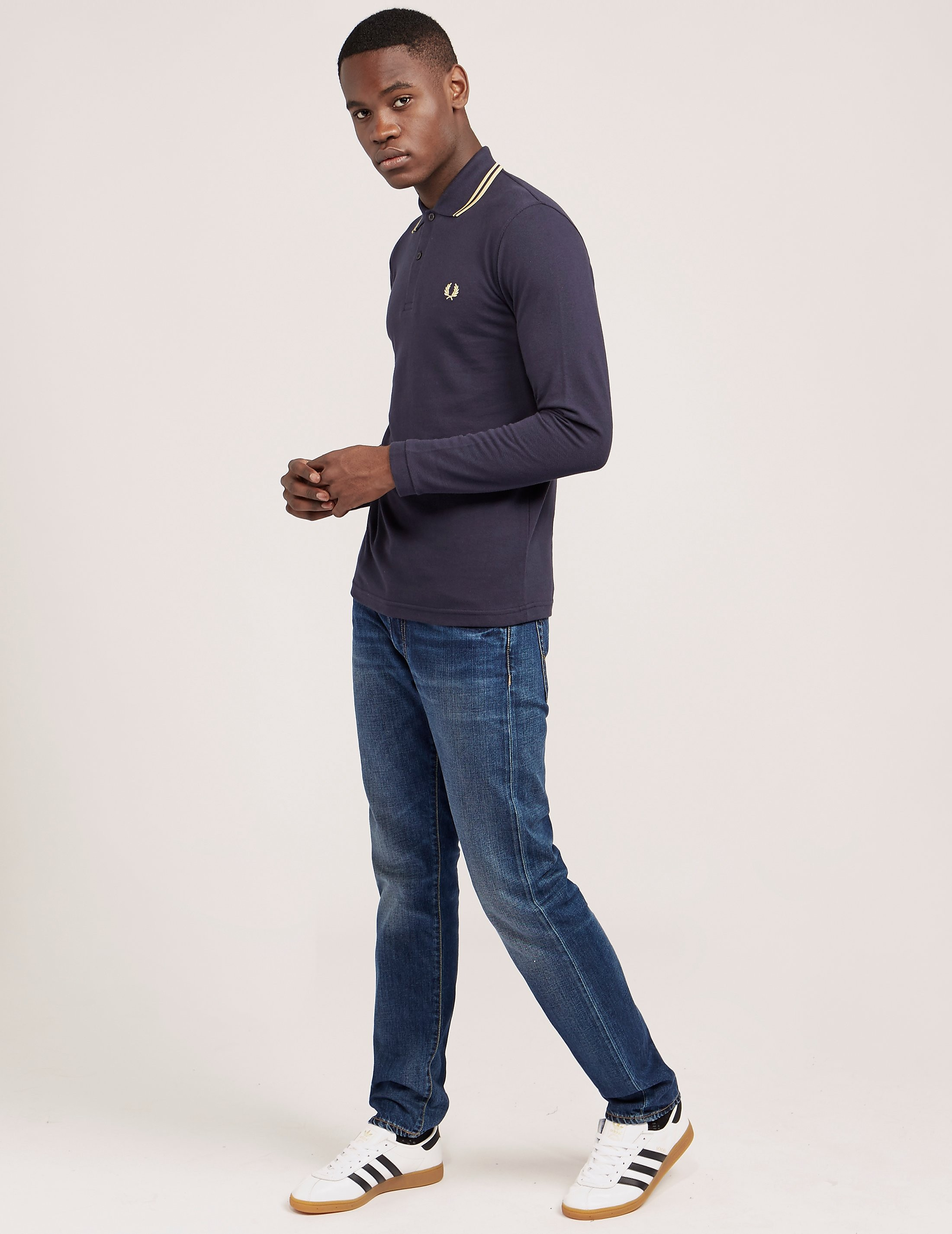 Fred Perry Reissue Twin Tipped Long Sleeve Polo Shirt