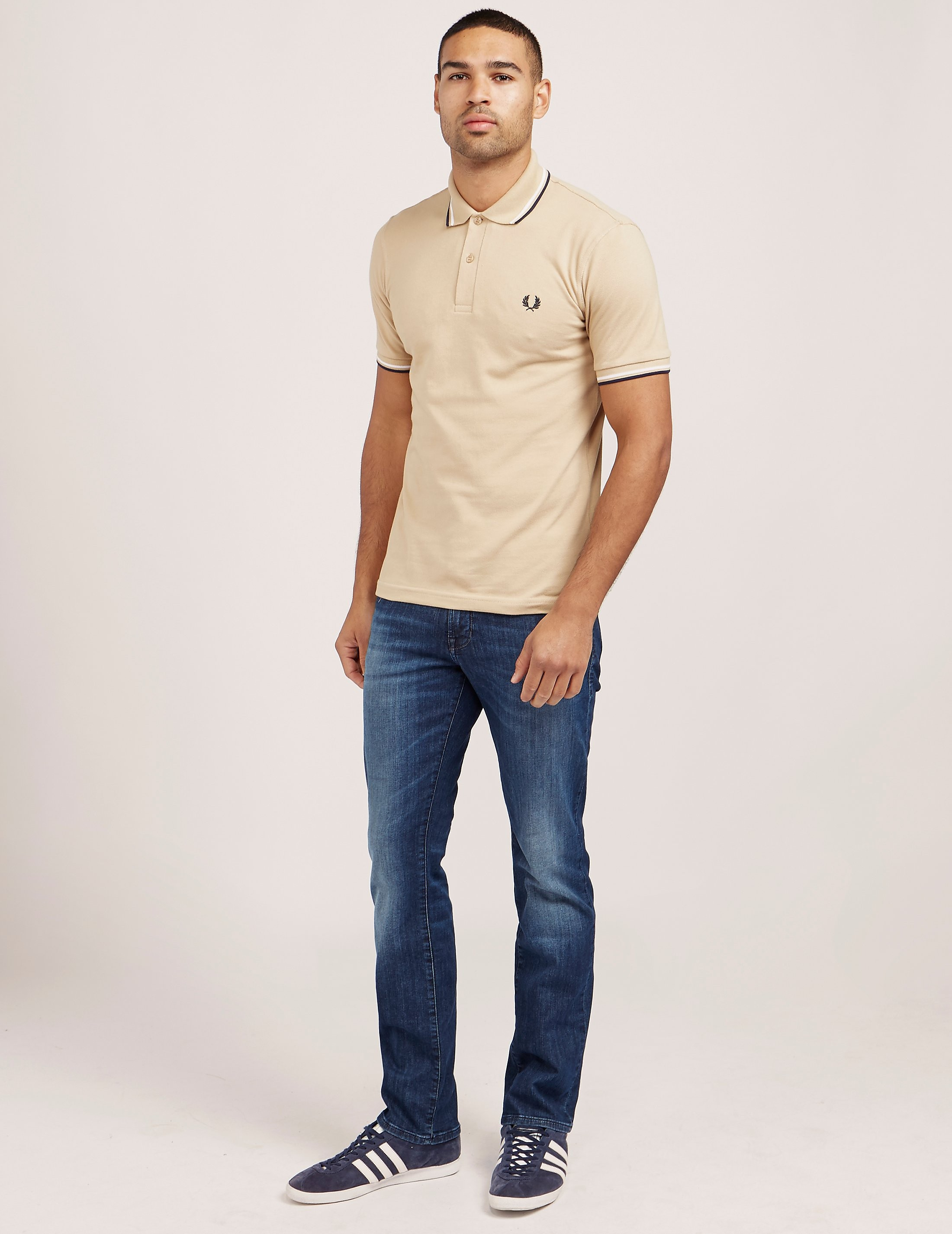 Fred Perry Reissue Twin Tipped Short Sleeve Polo Shirt