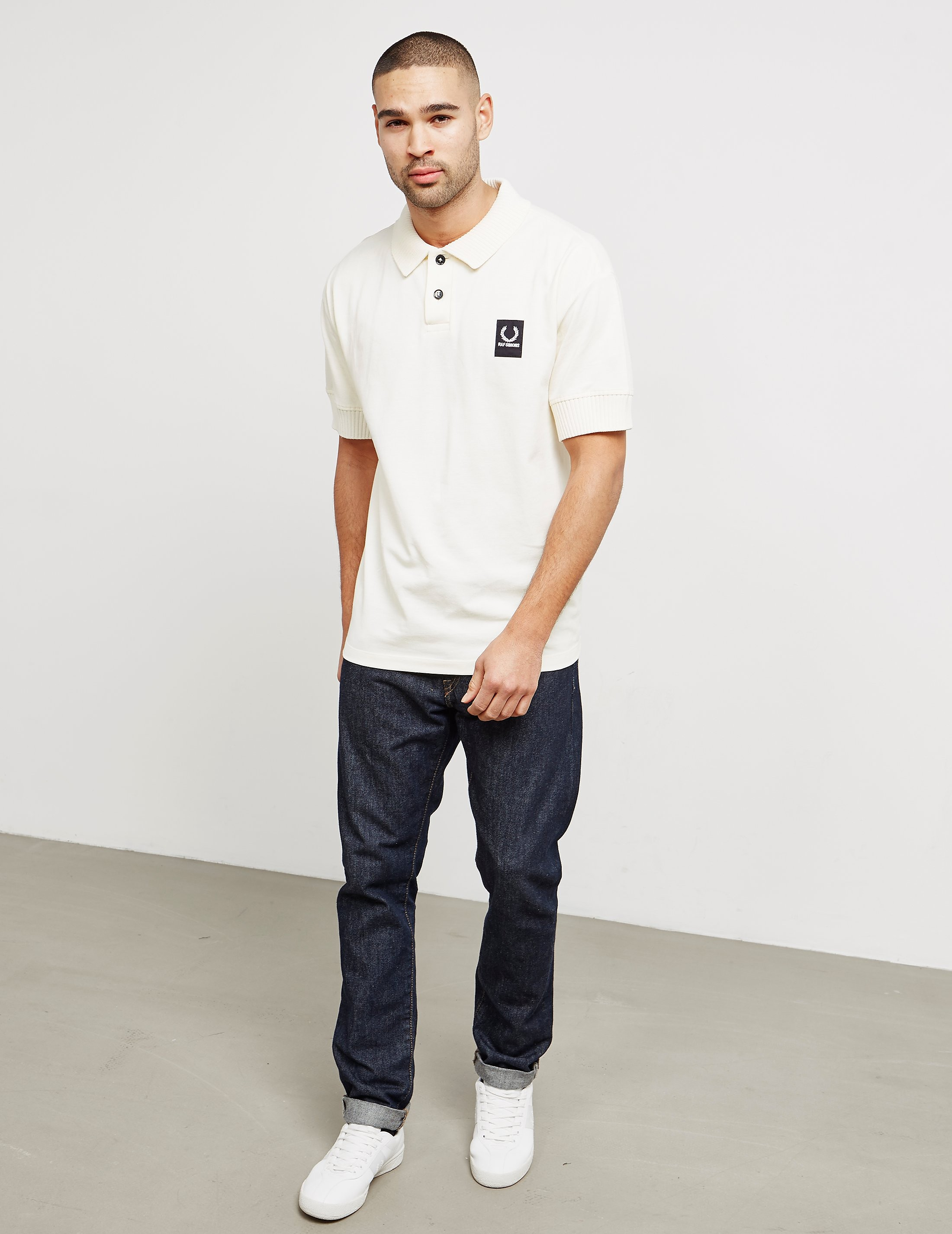 Fred Perry Raf Simons Ribbed Short Sleeve Polo Shirt