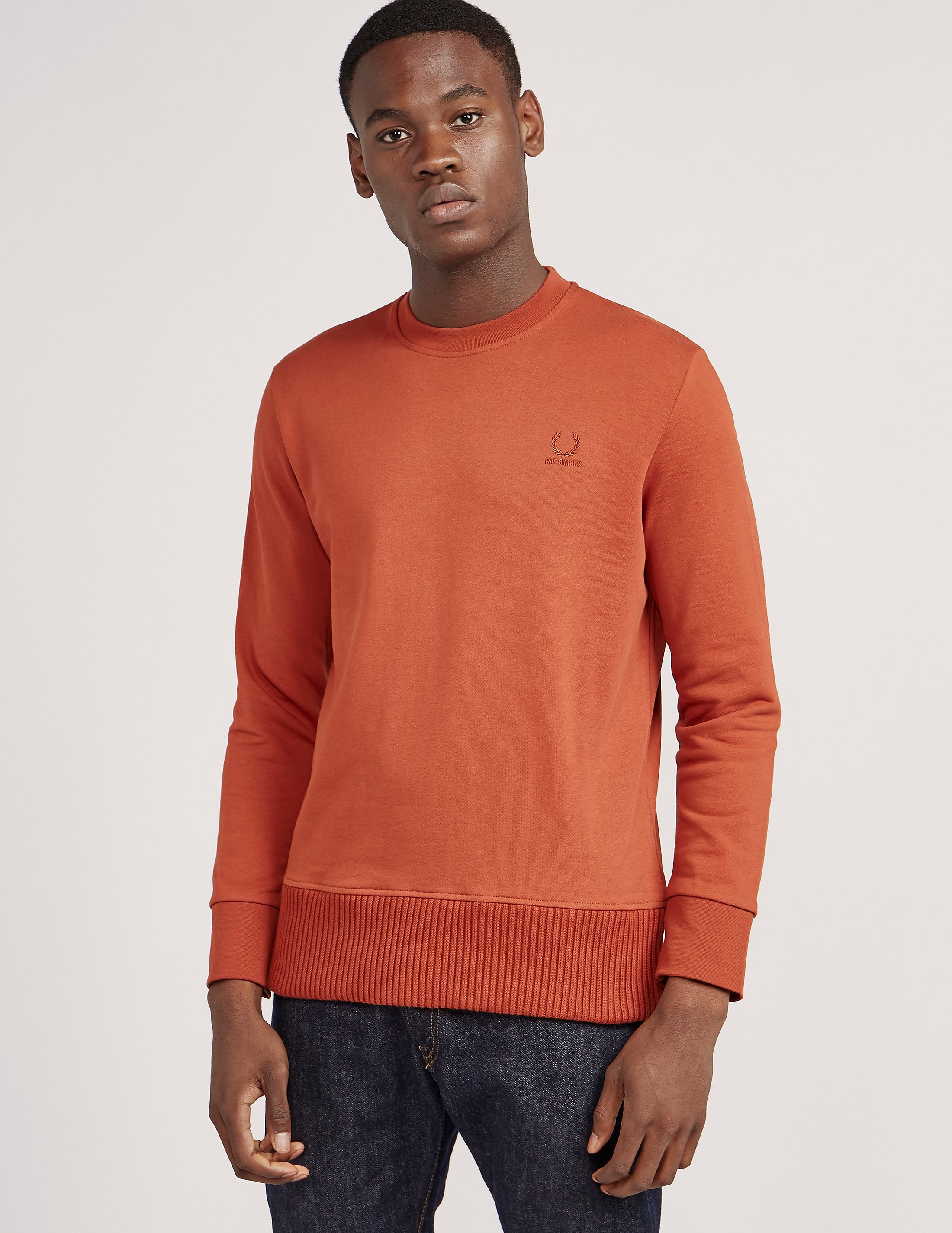 Fred Perry Raf Simons Crew Neck Sweatshirt